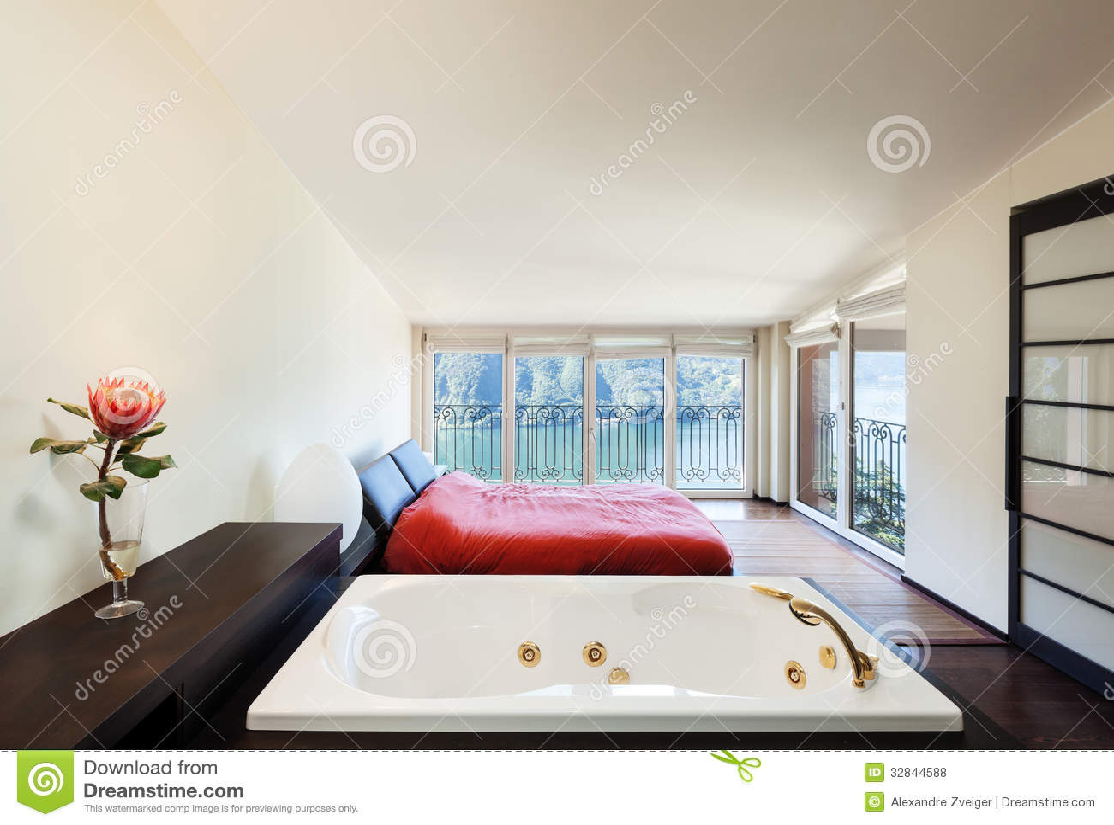 Interior luxury apartment  jacuzzi