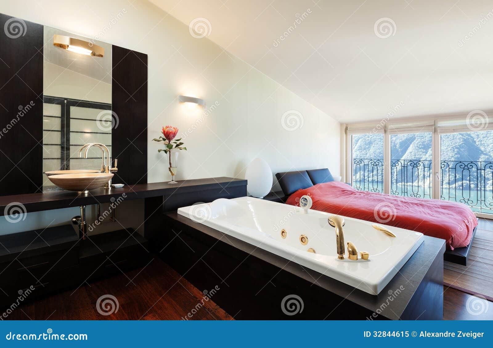 Interior luxury apartment jacuzzi stock image image for Jacuzzi interior barato