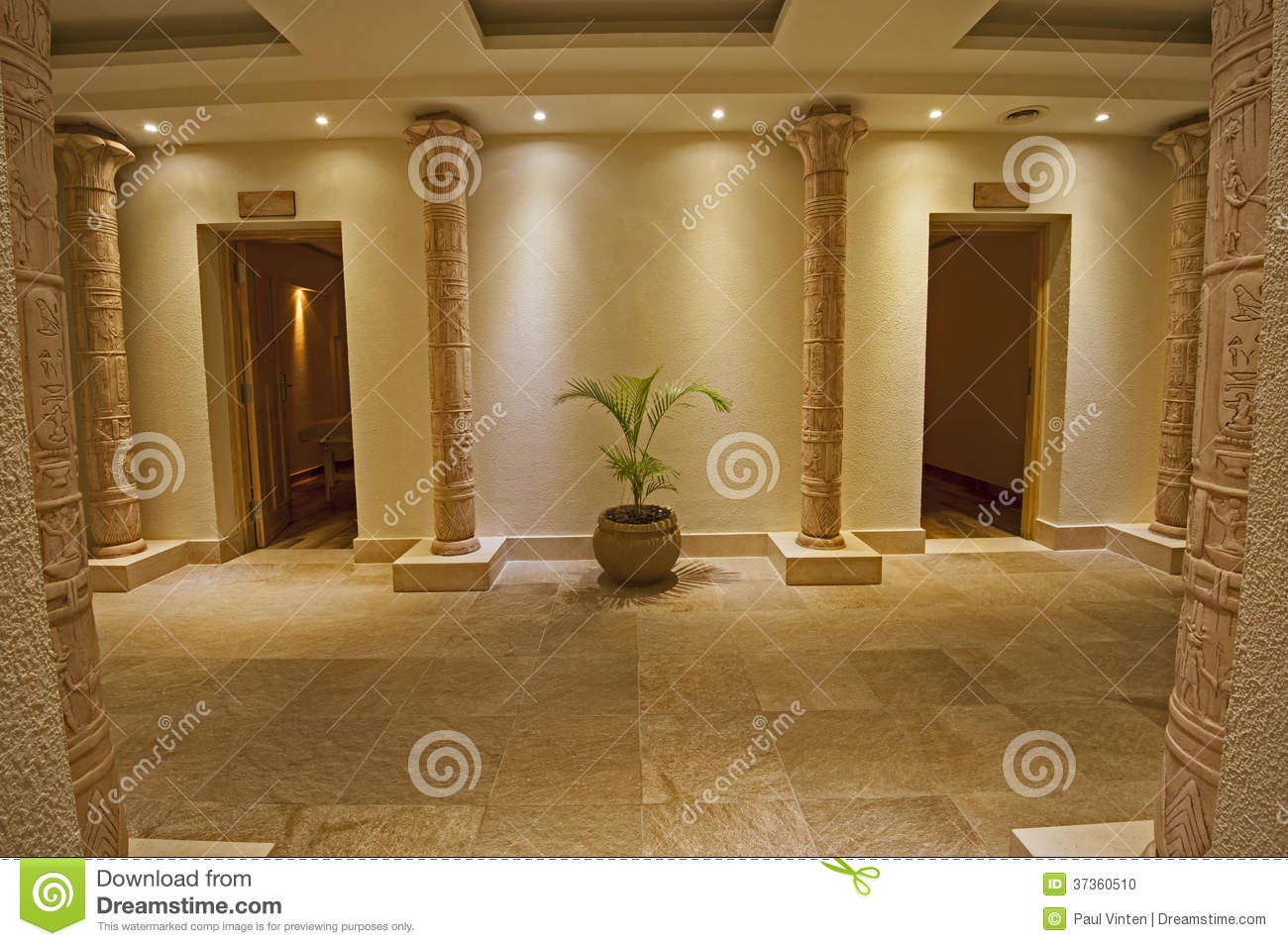 Interior of a luxury health spa stock photo image 37360510 for Interior design egypt