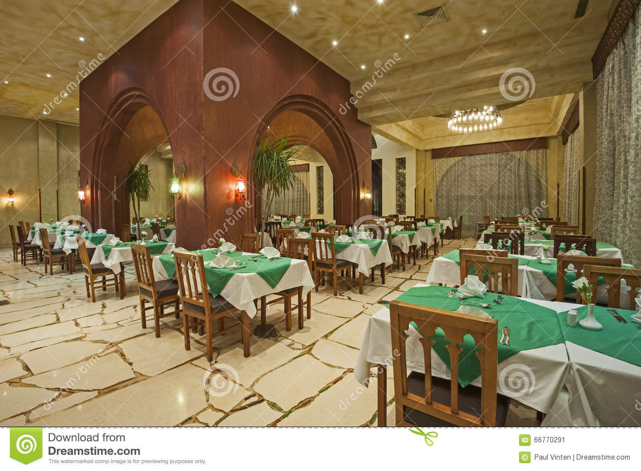 Interior Of A Luxury Hotel Restaurant Stock Image Image Of Ornate Holiday 66770291