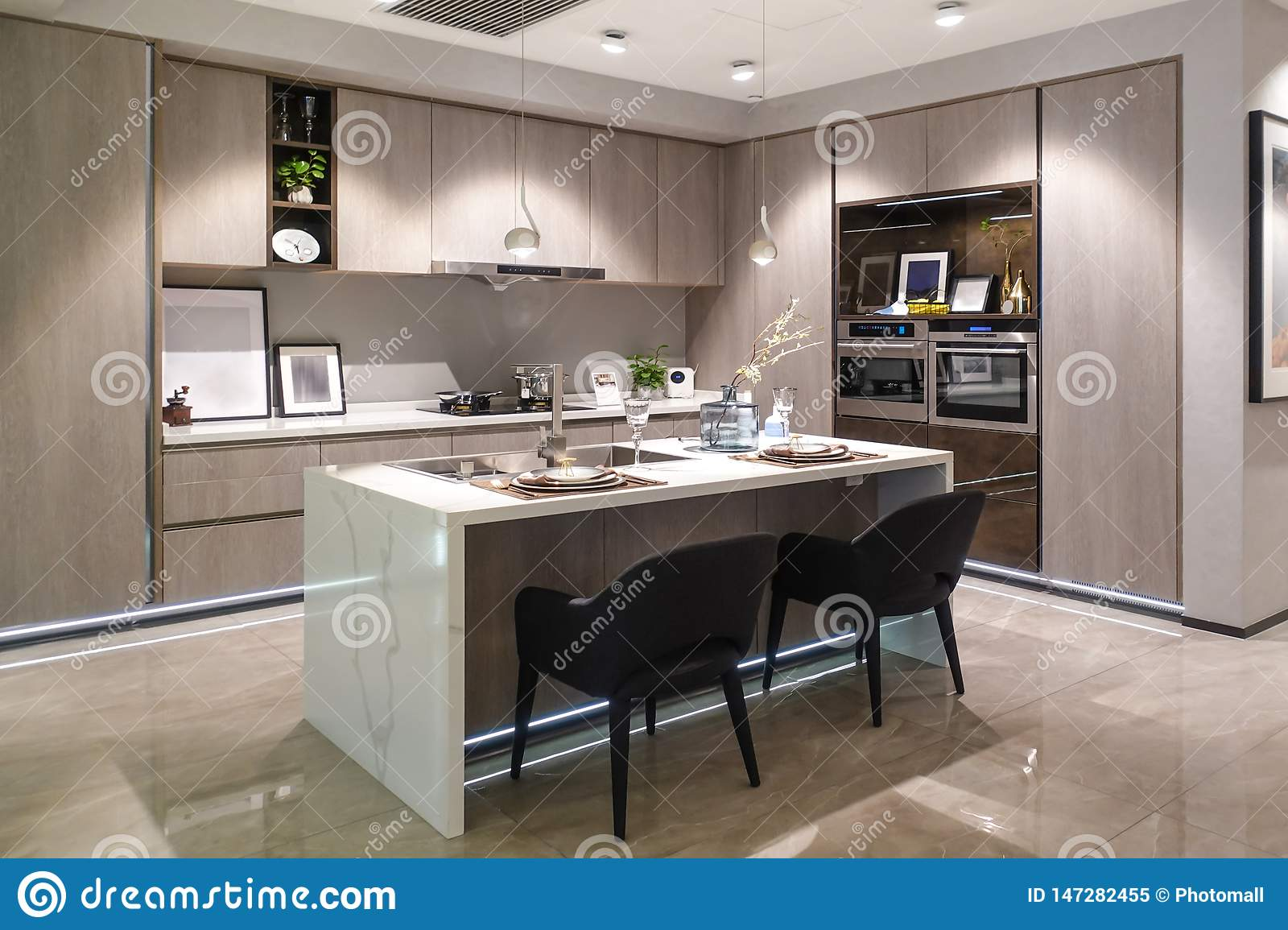 Interior Of Luxury Kitchen Dining Room Modern Home Decoration