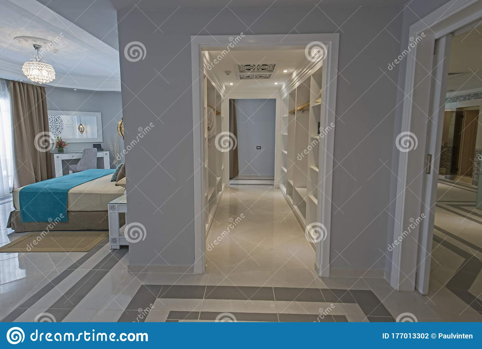 Interior Of A Luxury Master Suite Hotel Room Stock Photo Image Of Bedroom Furnishing 177013302