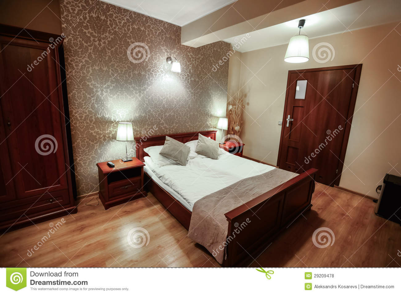 Interior of luxury modern hotel room stock photo image of door