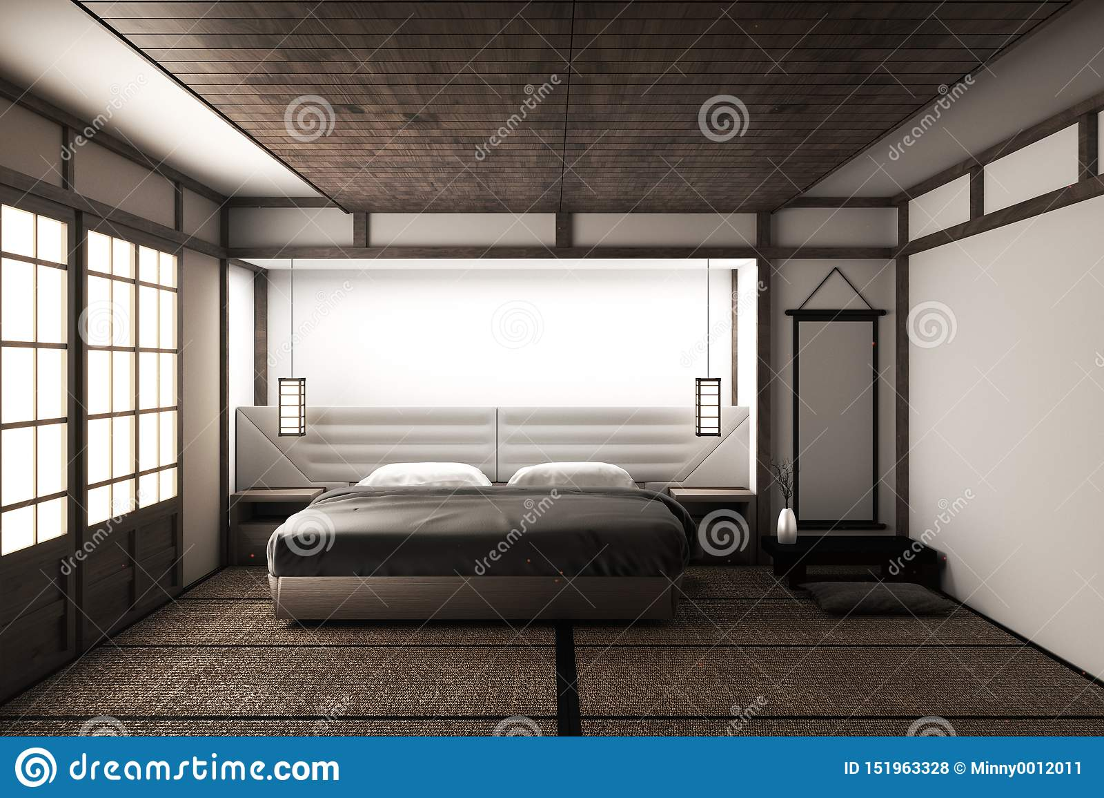Japanese Bedroom Stock Illustrations – 12 Japanese Bedroom Stock
