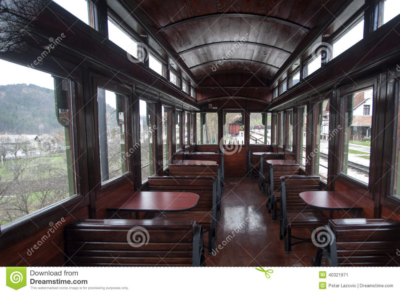 interior of luxury old train carriage stock image image of carriage transport 40321971. Black Bedroom Furniture Sets. Home Design Ideas