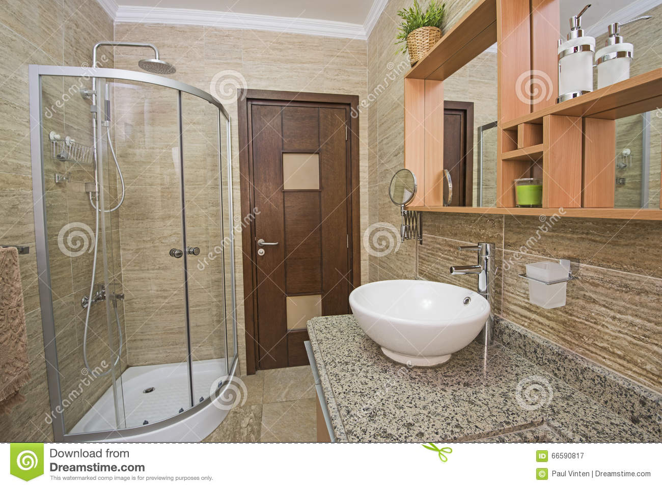 Interior Of A Luxury Show Home Bathroom Stock Image - Image of ...