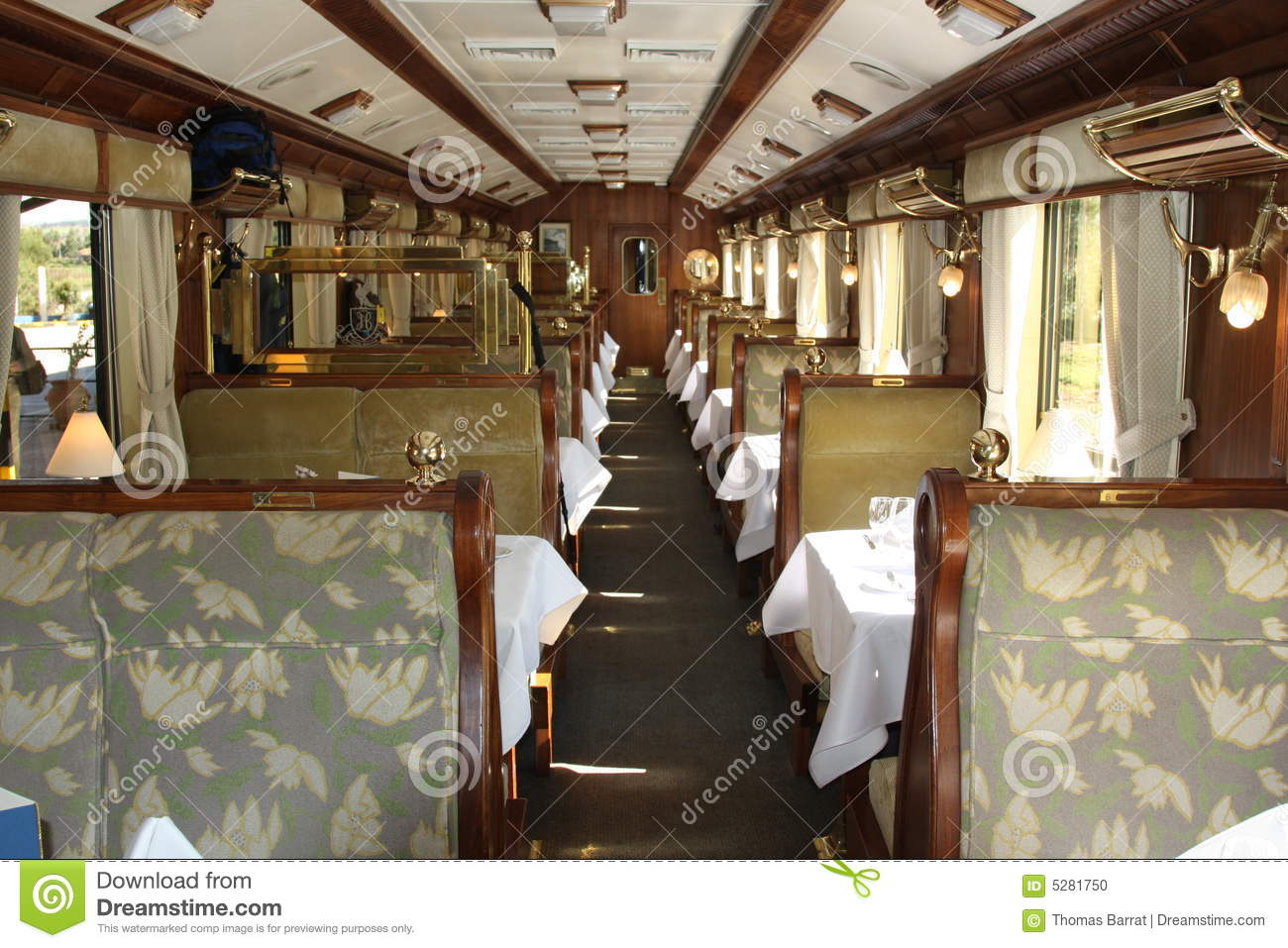 Interior of Luxury Train to Machu Picchu in Peru