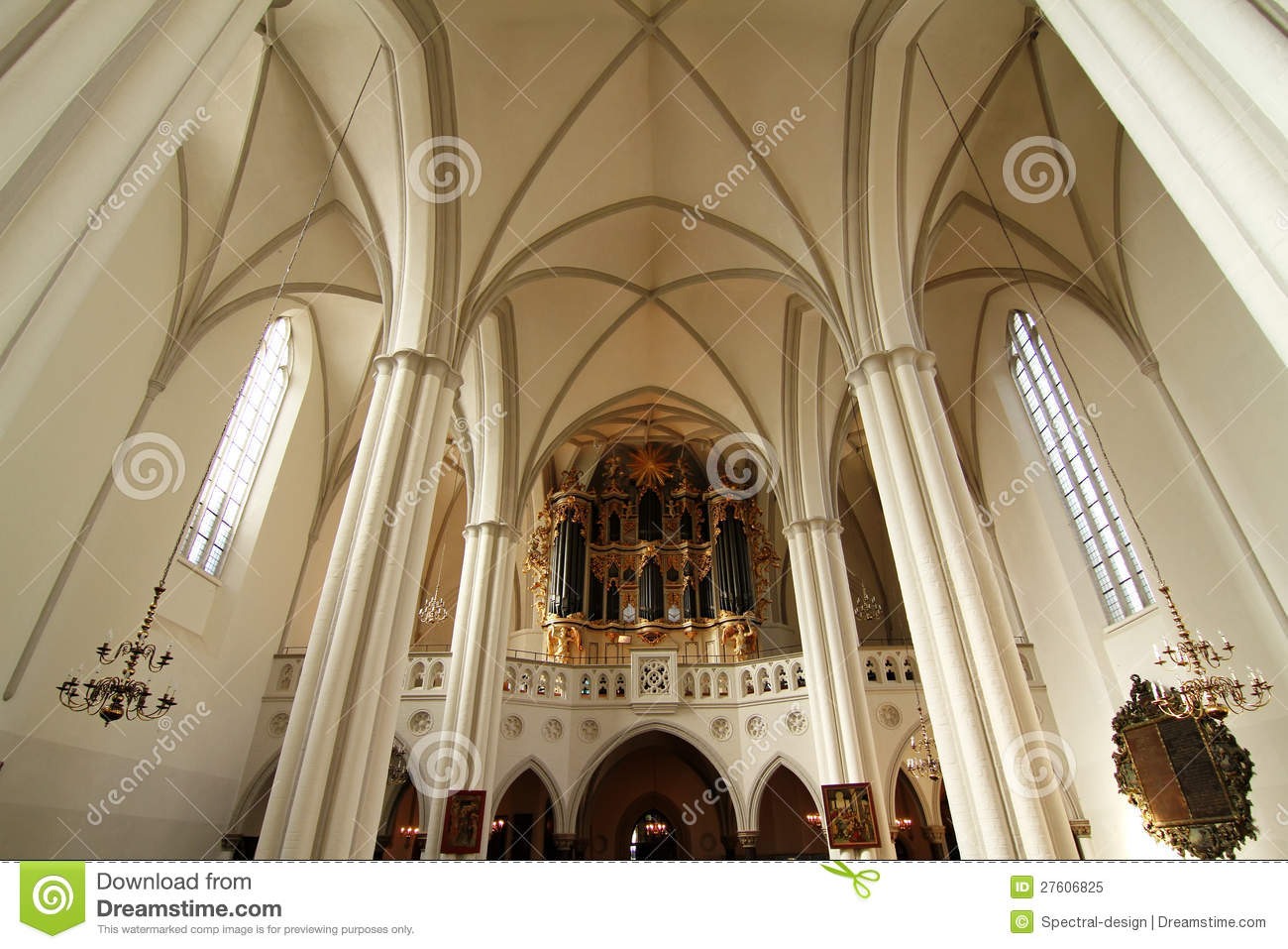 Interior Of The Marienkirche In Berlin Germany Royalty