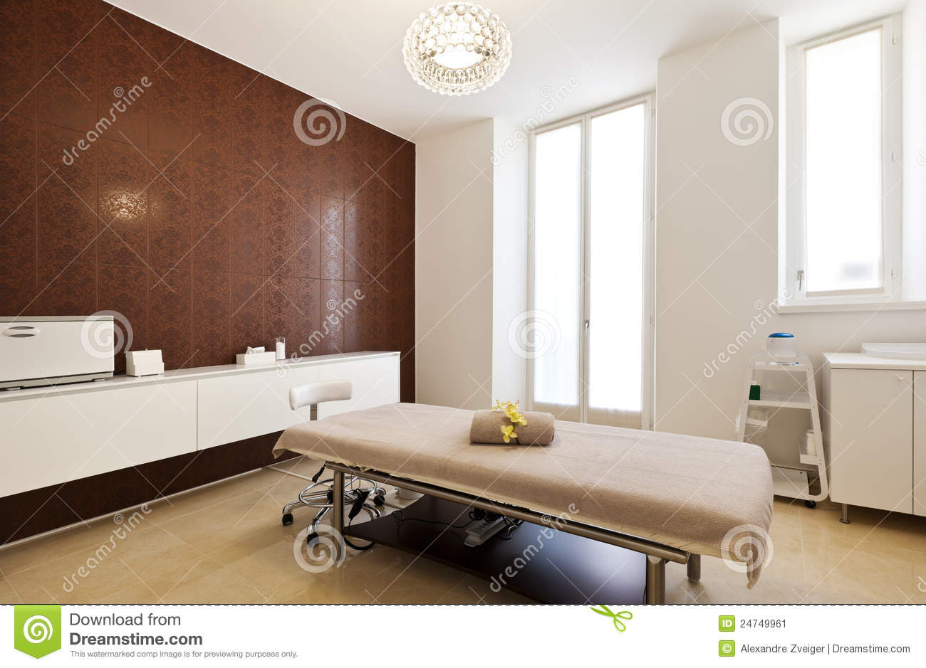 Interior Of Massage Room Stock Image Image Of Relaxation