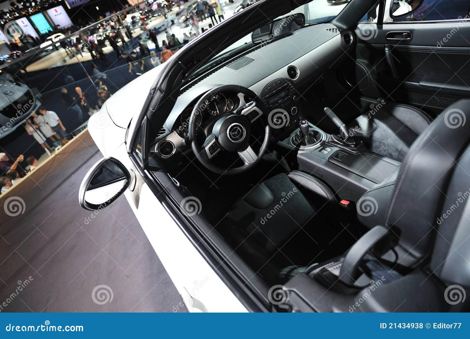 mazda mx 5 car interior editorial stock photo image 21434938. Black Bedroom Furniture Sets. Home Design Ideas