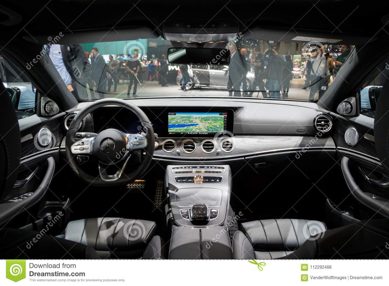 Mercedes Benz Interior >> Interior Mercedes Benz E300 Diesel Hybrid Car Editorial