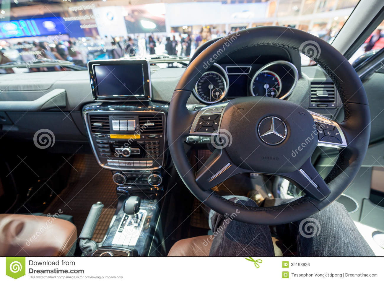 Interior Of Mercedes Benz New G Class On Display Editorial ...