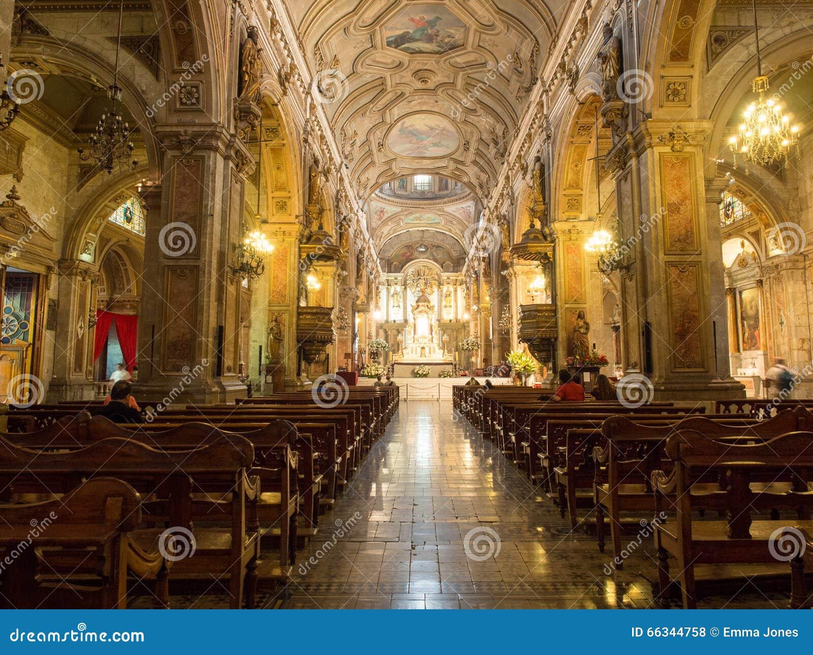 Interior of metropolitan cathedral of santiago chile - Interior santiago de compostela ...