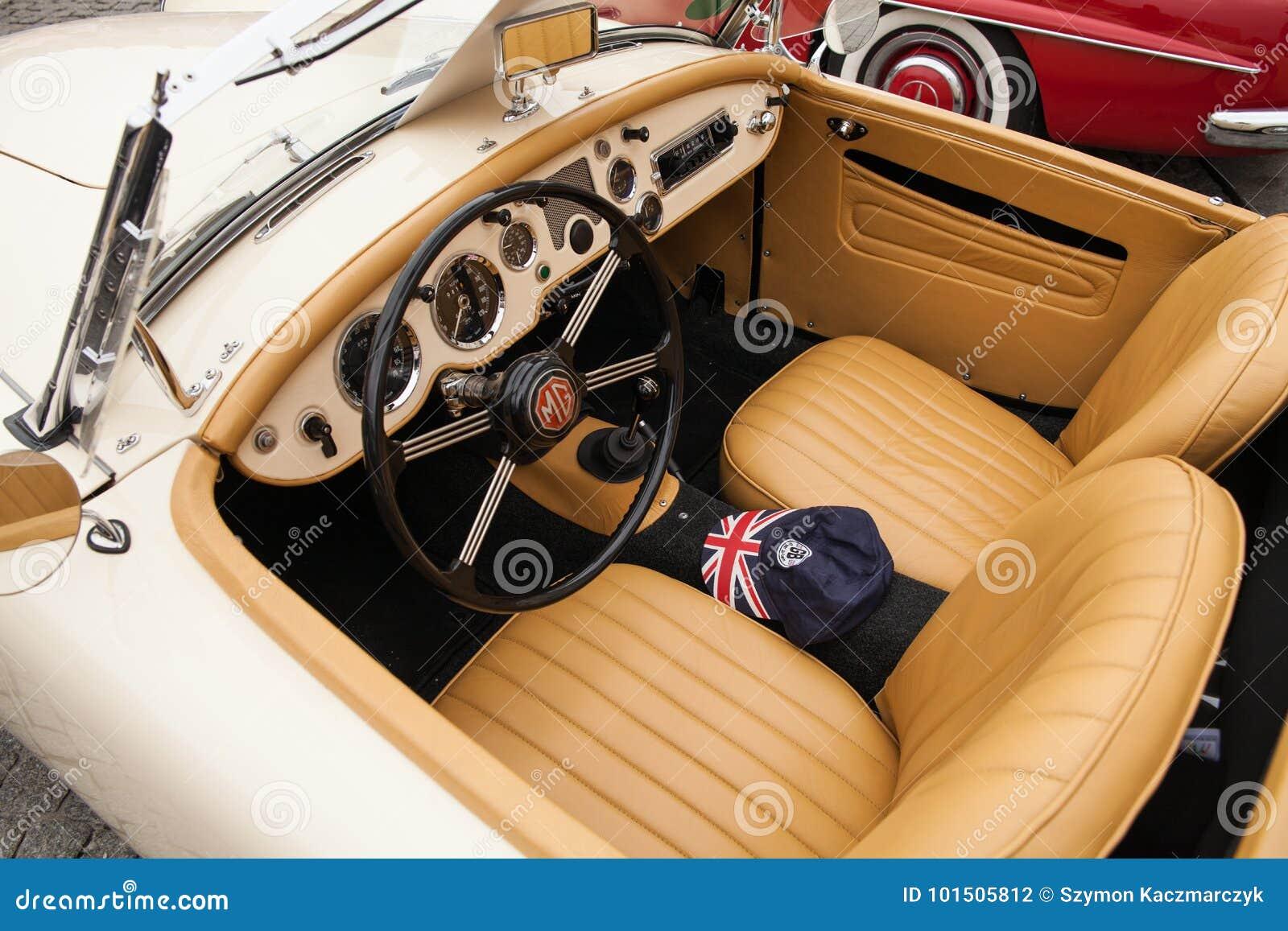 Interior Mg 1600 Inside View Retro Design Car Editorial