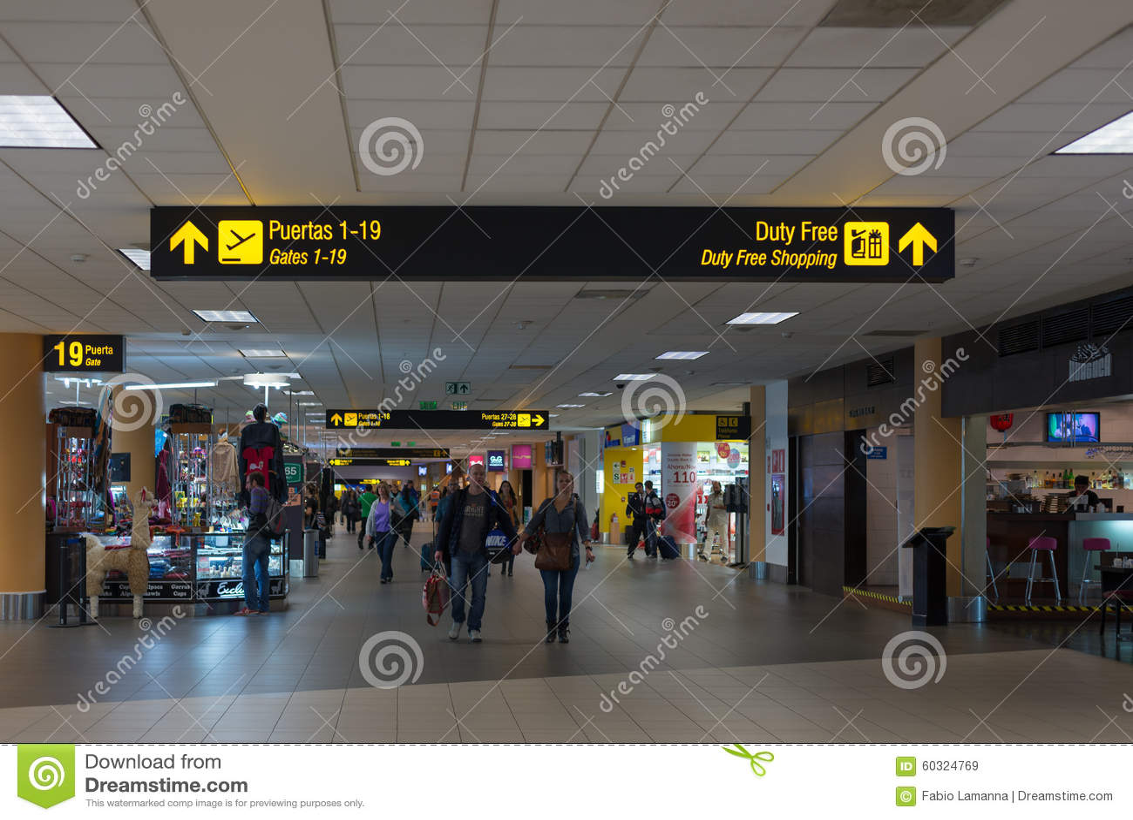 Interior of miami international airport usa editorial for International decor gates