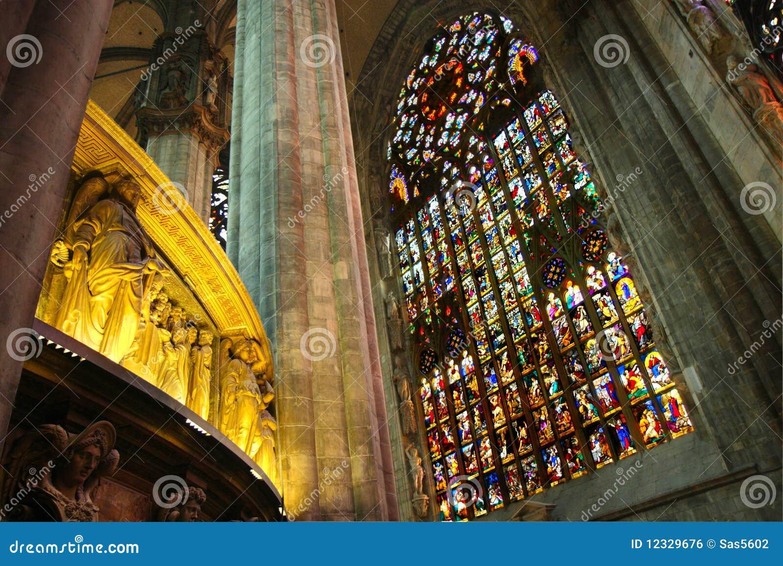 Interior Of Milan Cathedral Royalty Free Stock Image