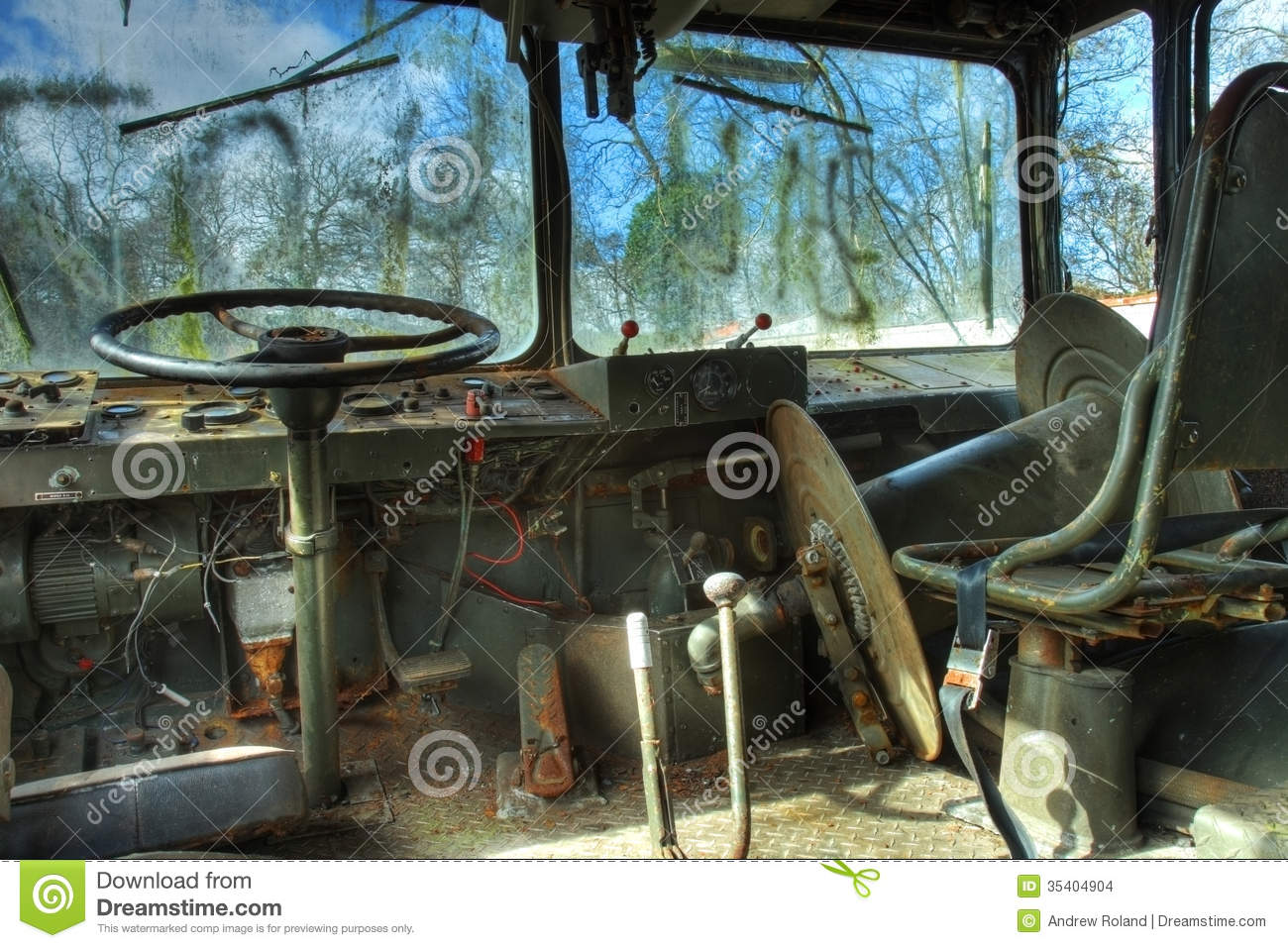 interior of military vehicle stock images image 35404904. Black Bedroom Furniture Sets. Home Design Ideas