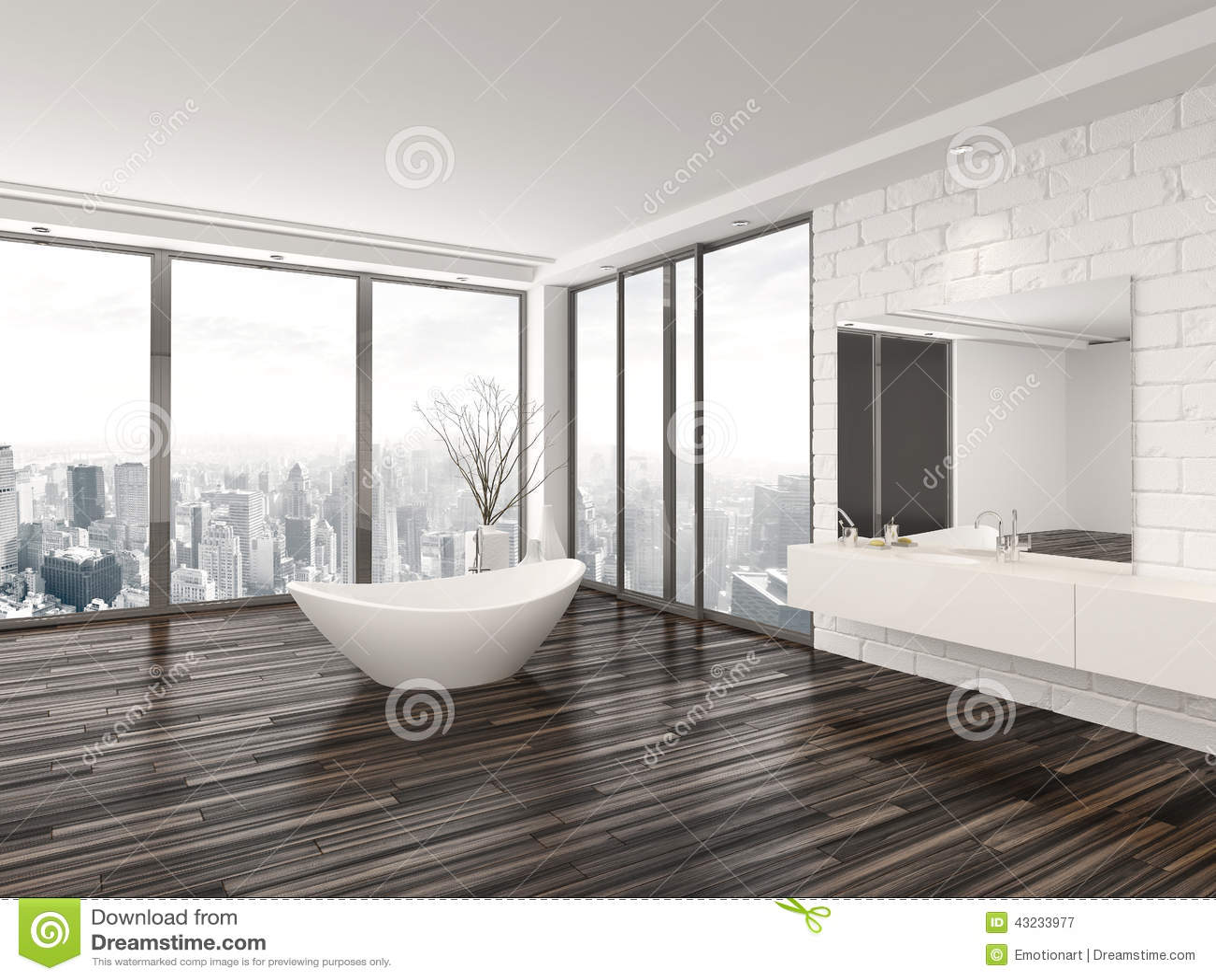 Interior minimalista blanco moderno del cuarto de ba o for Casa minimalista interior blanco