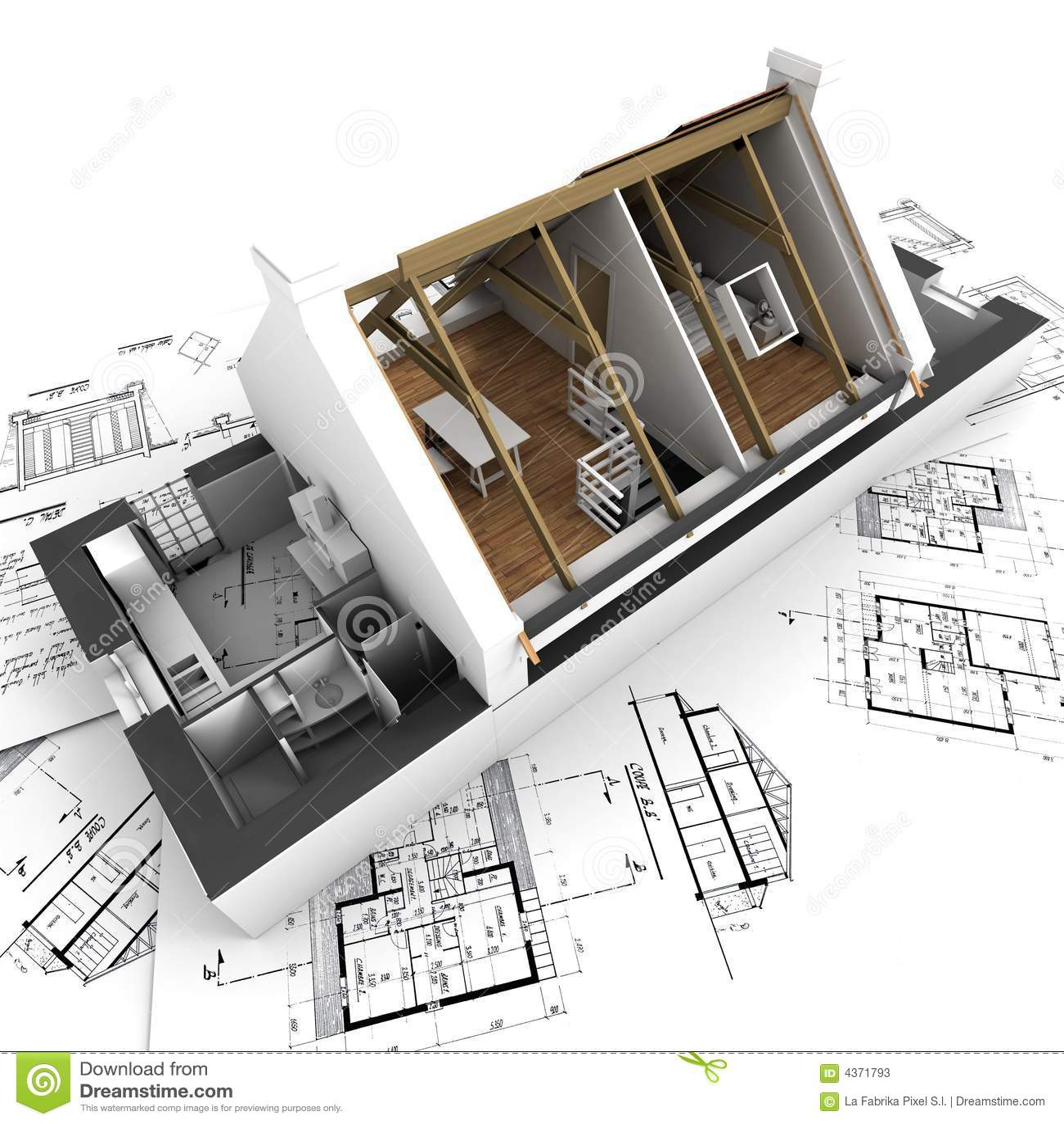 Interior modelo de la casa de la configuración que muestra