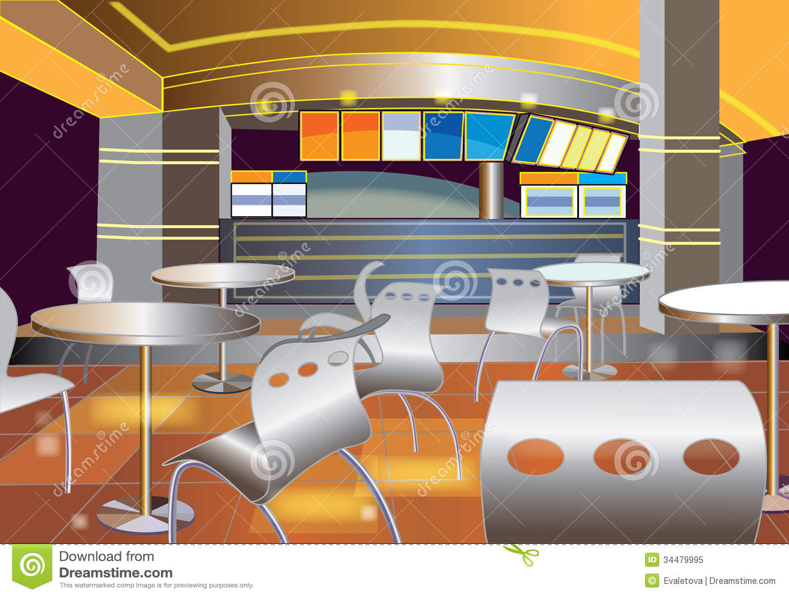 Interior of a modern bar royalty free stock photo image