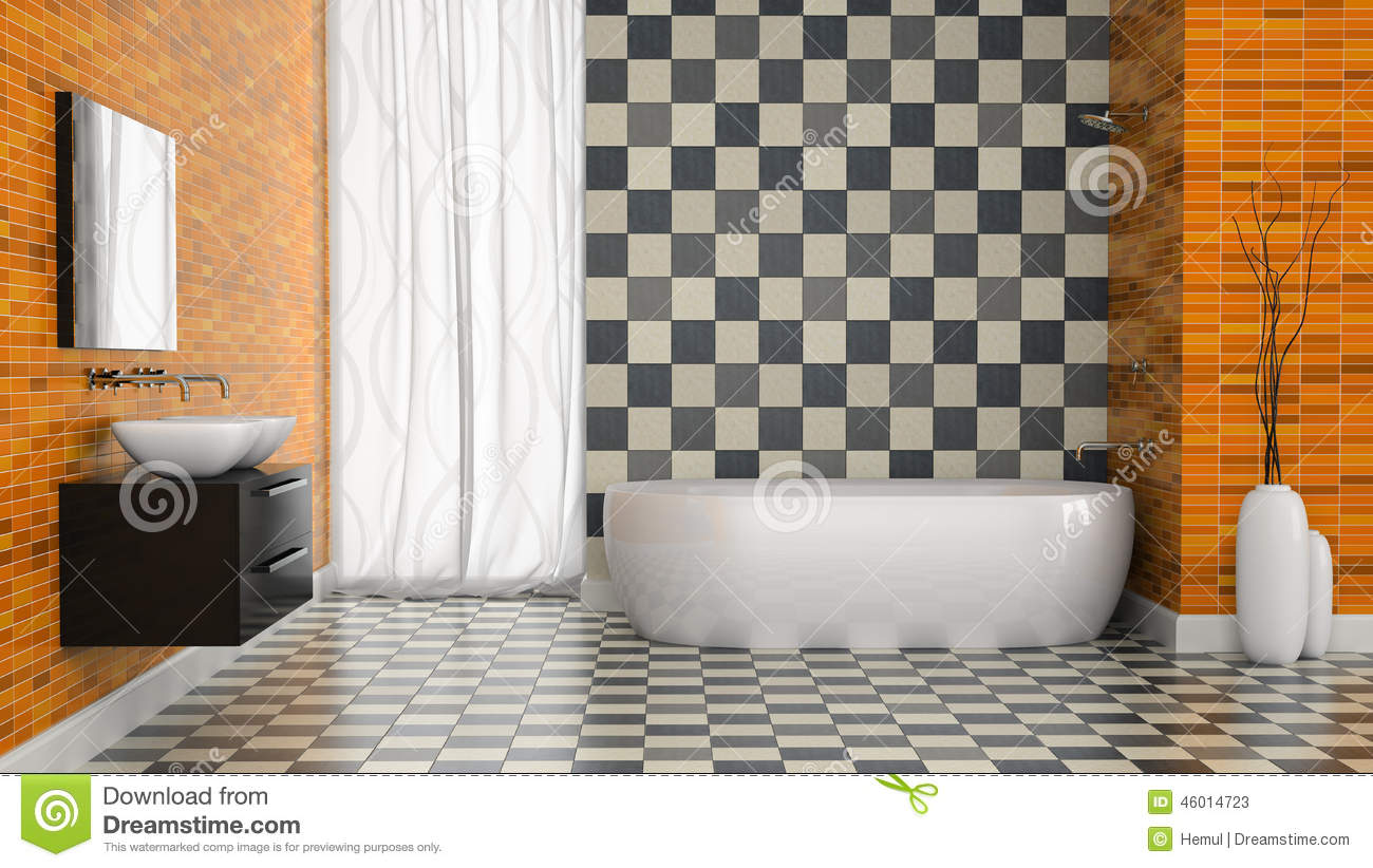 Modern toilet with black tiles on wall royalty free stock image 14932696 - Piastrelle bagno nere ...
