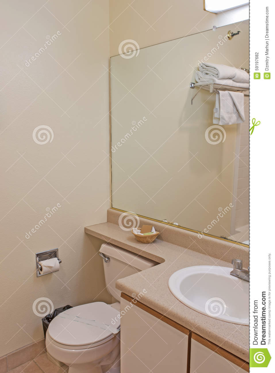 Interior of Modern Bathroom Environment in Pastel colors