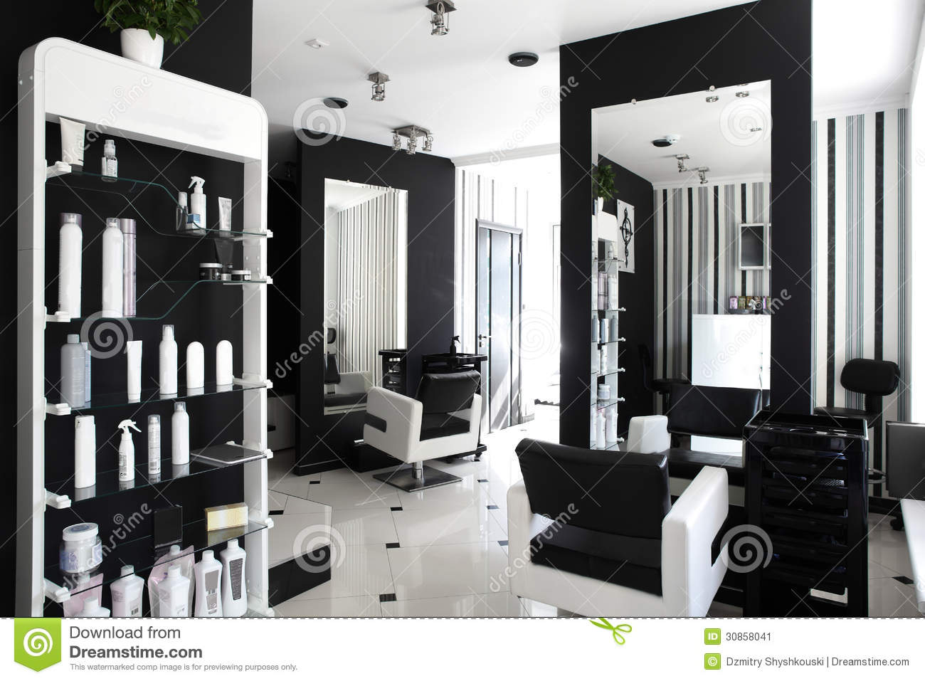 Contemporary beauty salon native home garden design for Interieur stylist