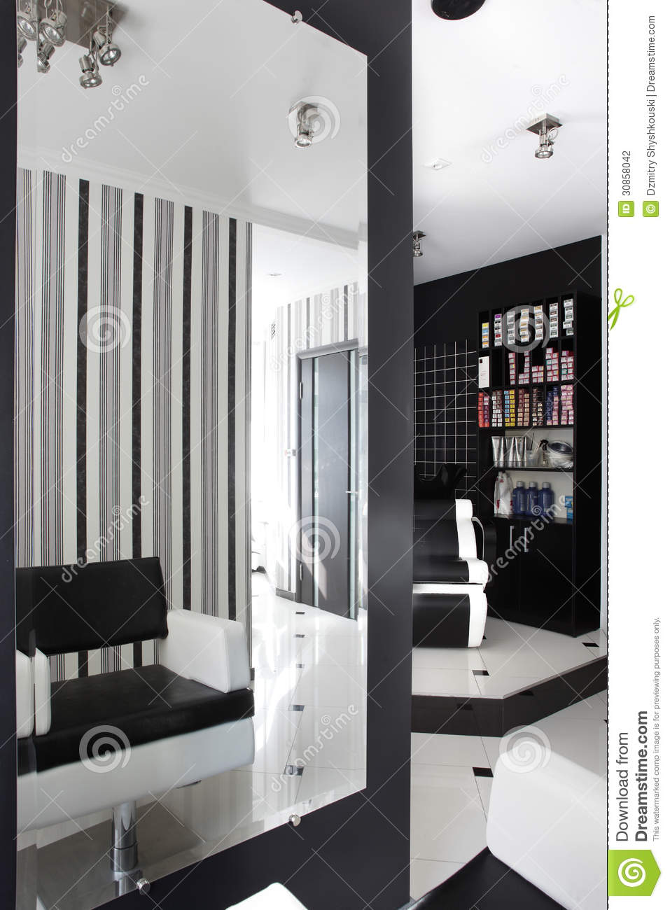 Interior of modern beauty salon stock photo image 30858042 for Photo salon moderne