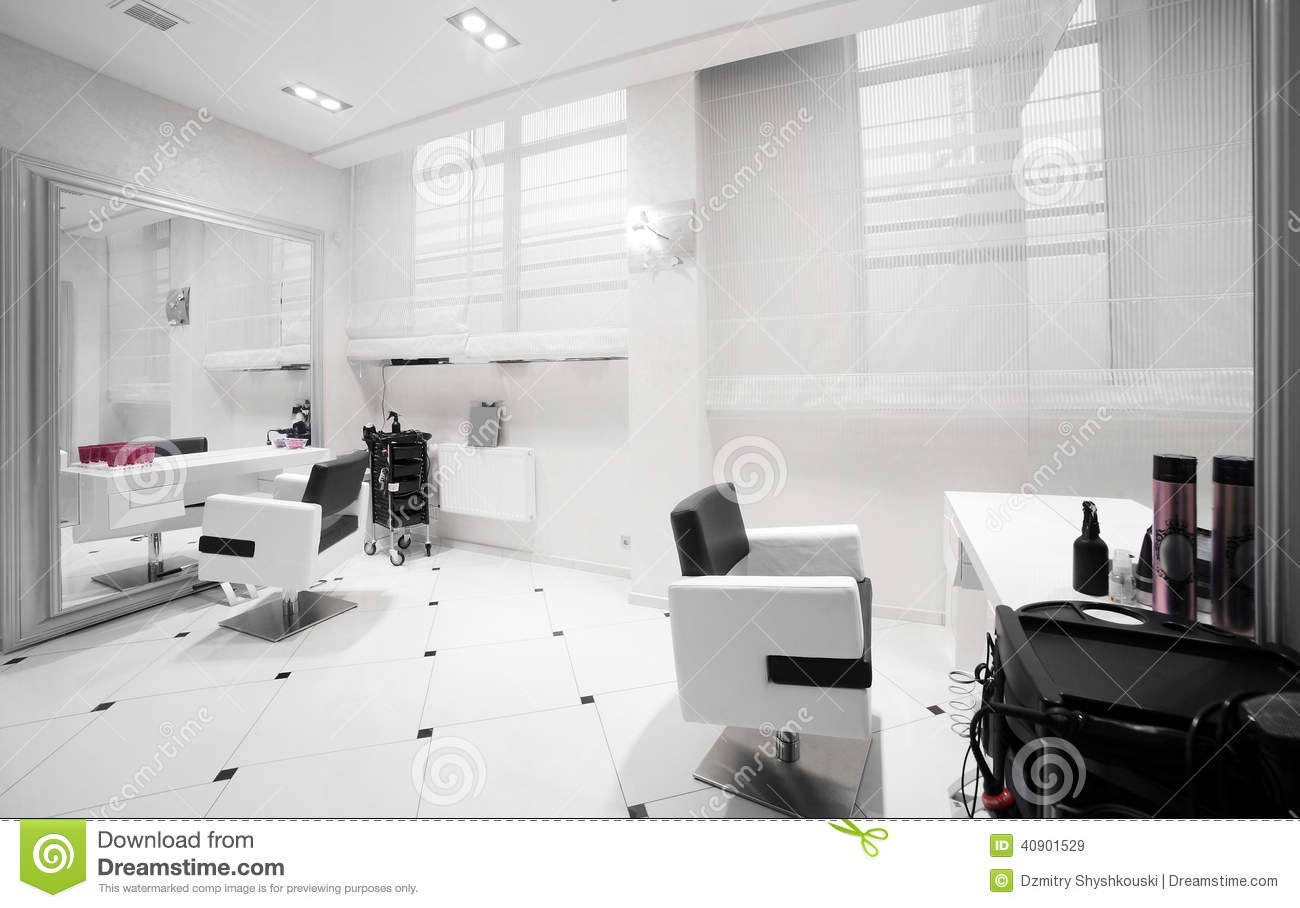 Interior of modern beauty salon stock image image 40901529 for Photo salon moderne