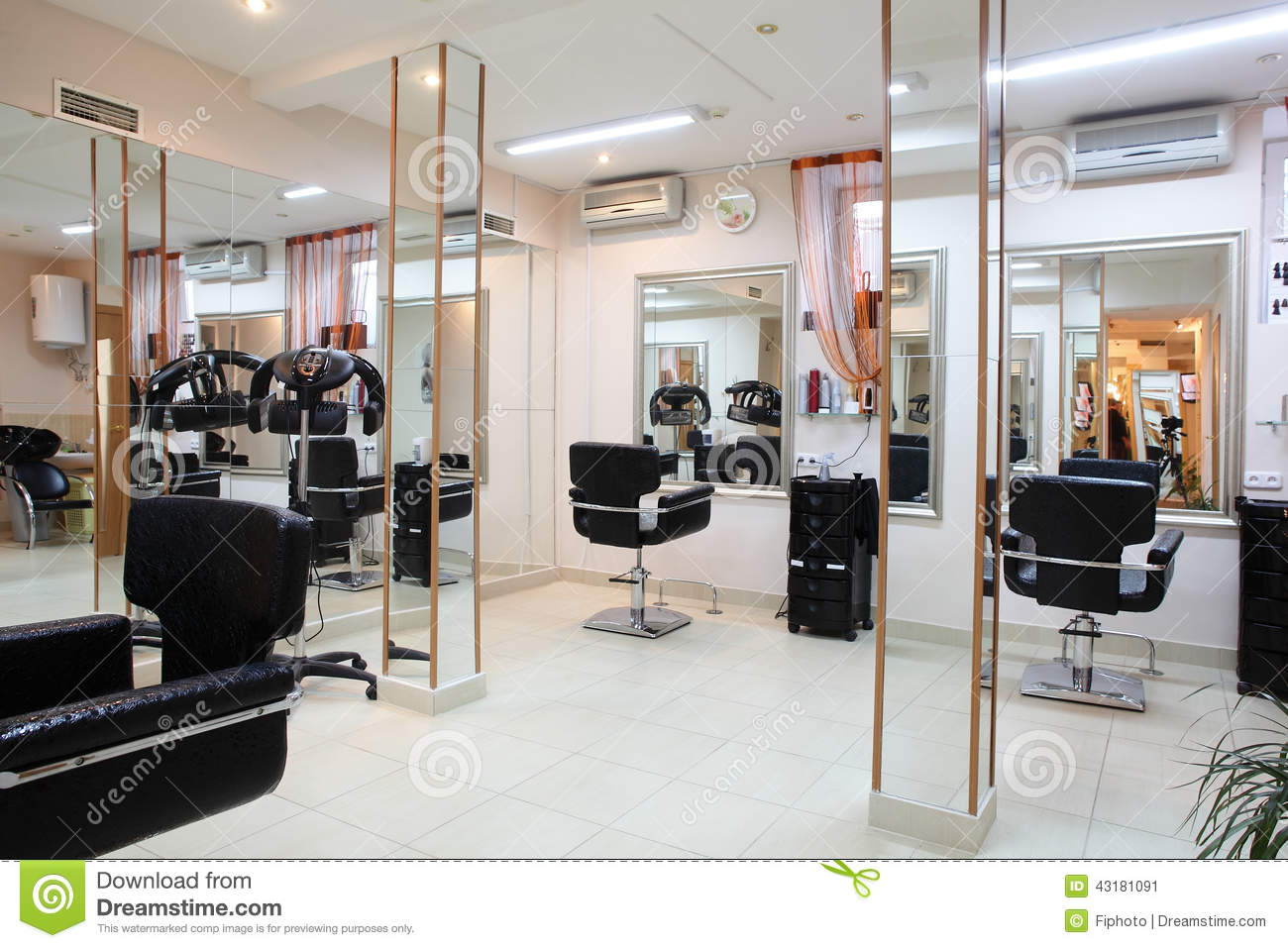 Interior of modern beauty salon stock image image 43181091 for Photo salon moderne