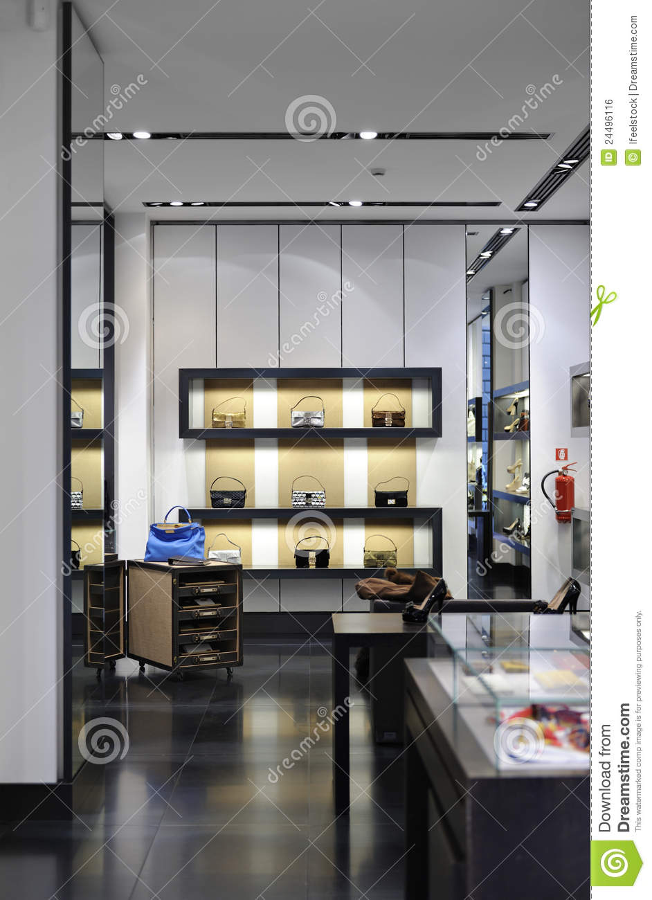 Interior Of A Modern Boutique Store Royalty Free Stock  : interior modern boutique store 24496116 from www.dreamstime.com size 942 x 1300 jpeg 118kB