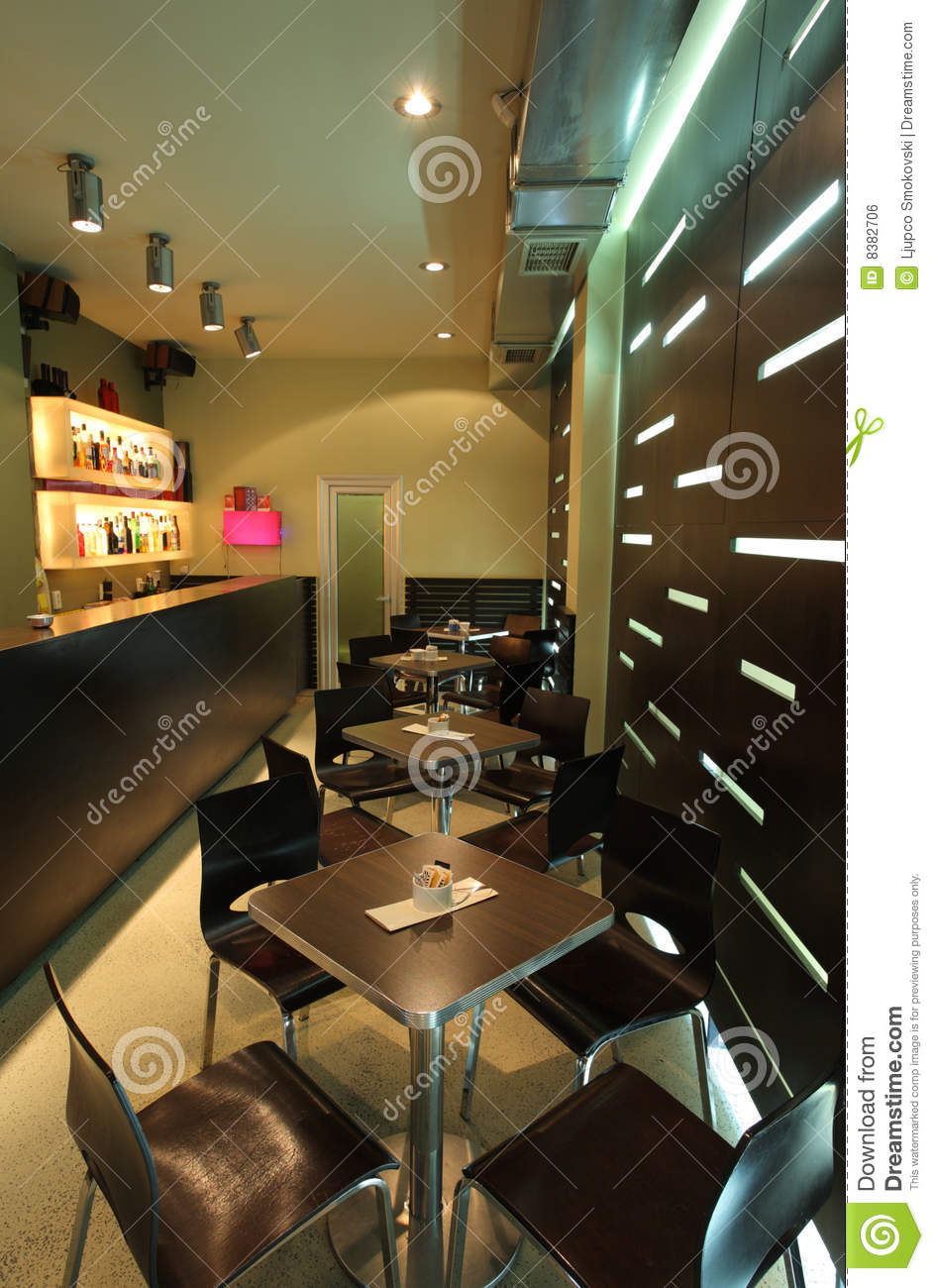 Interior Of A Modern Cafe Royalty Free Stock Image