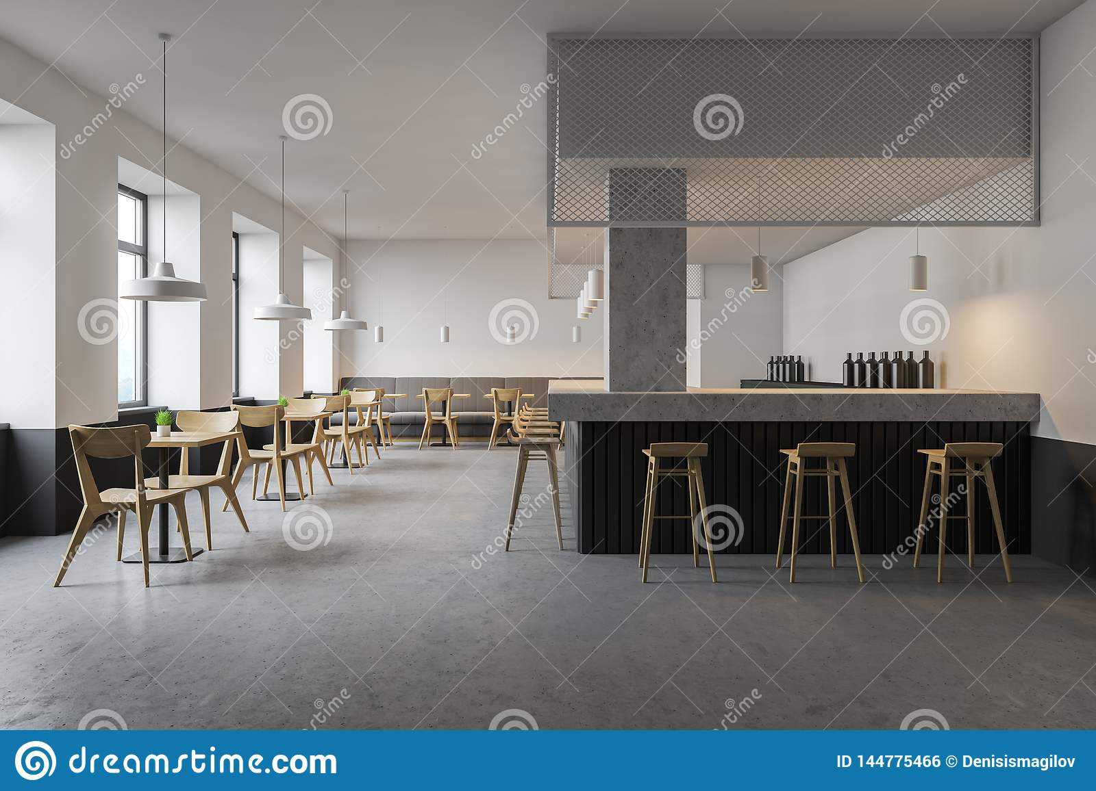 Interior Of Modern Cafe With Bar Stock Photo Image Of Couch Industry 144775466