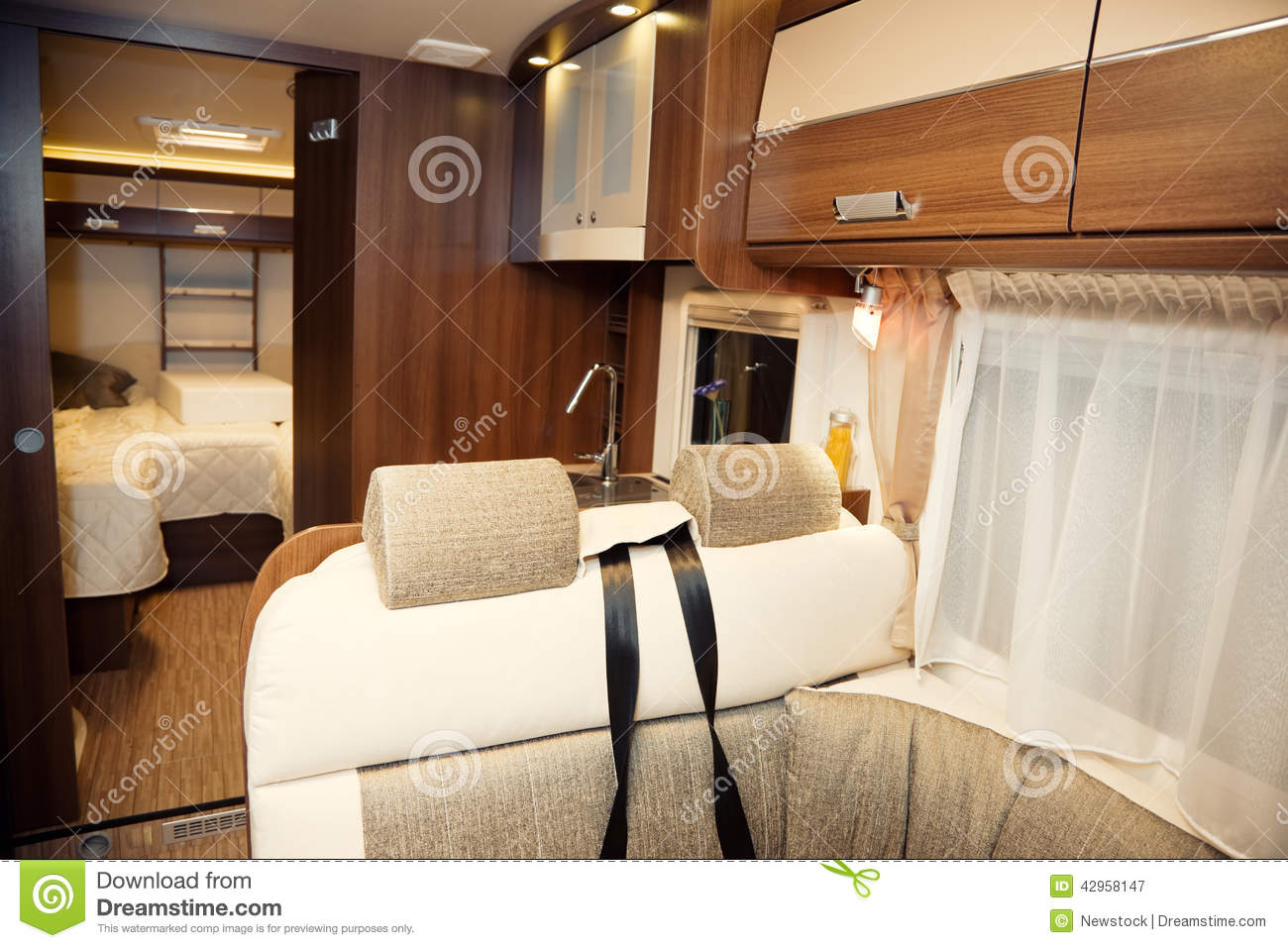 Interior of Modern Camper stock image. Image of mobility - 42958147
