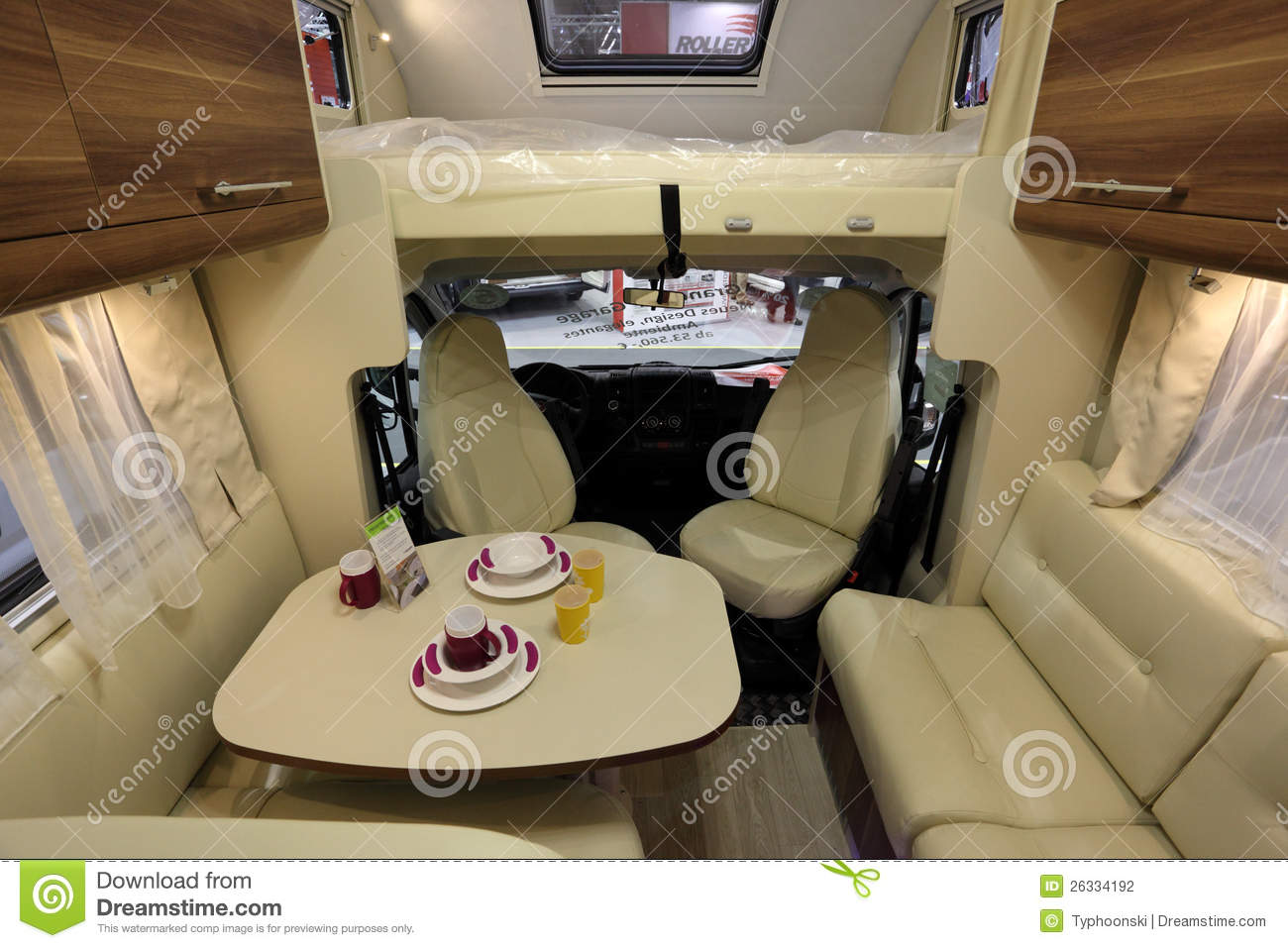 Interior of a modern camper van editorial photography for Interieur de camping car