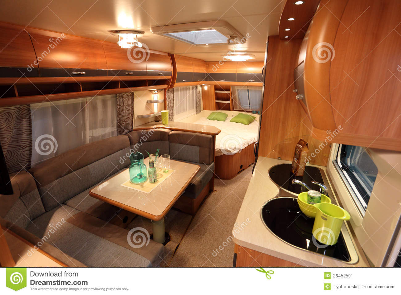 interior of a modern camper van editorial photo image 26452591. Black Bedroom Furniture Sets. Home Design Ideas