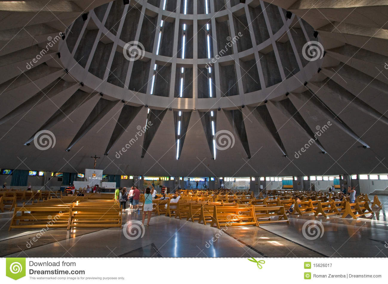 Interior Of A Modern Church Editorial Photography Image