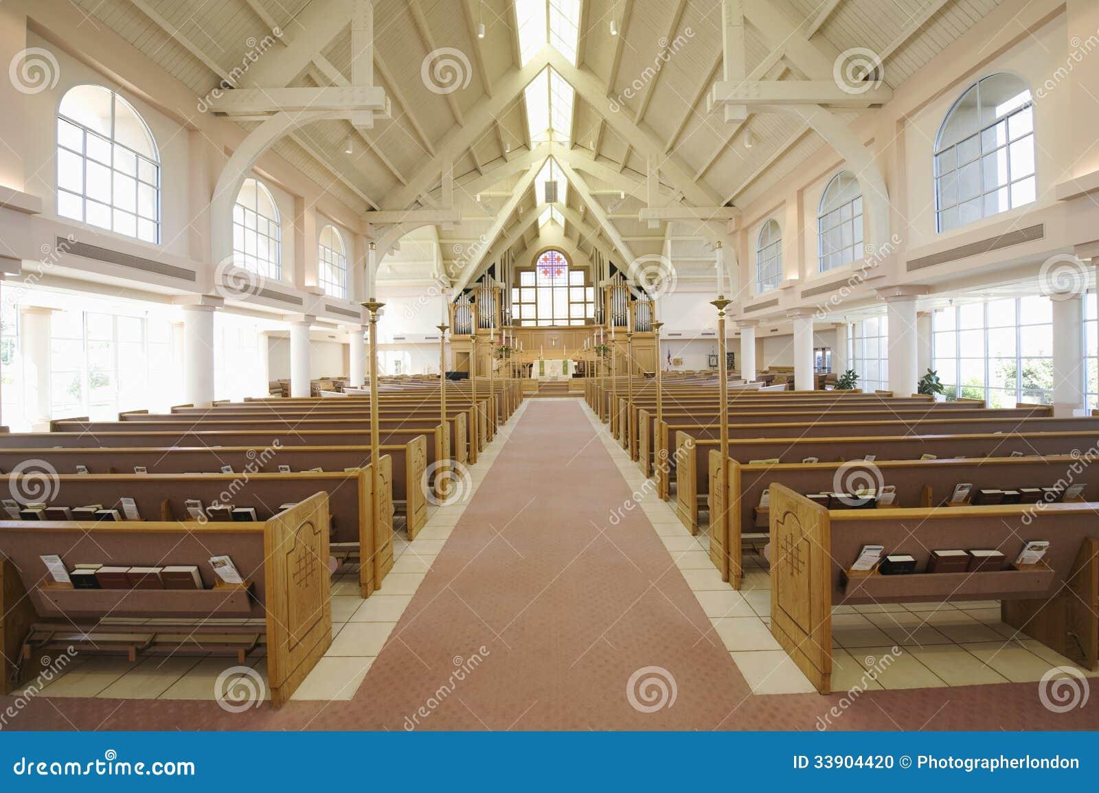 Interior Of Modern Church Stock Photo Image 33904420