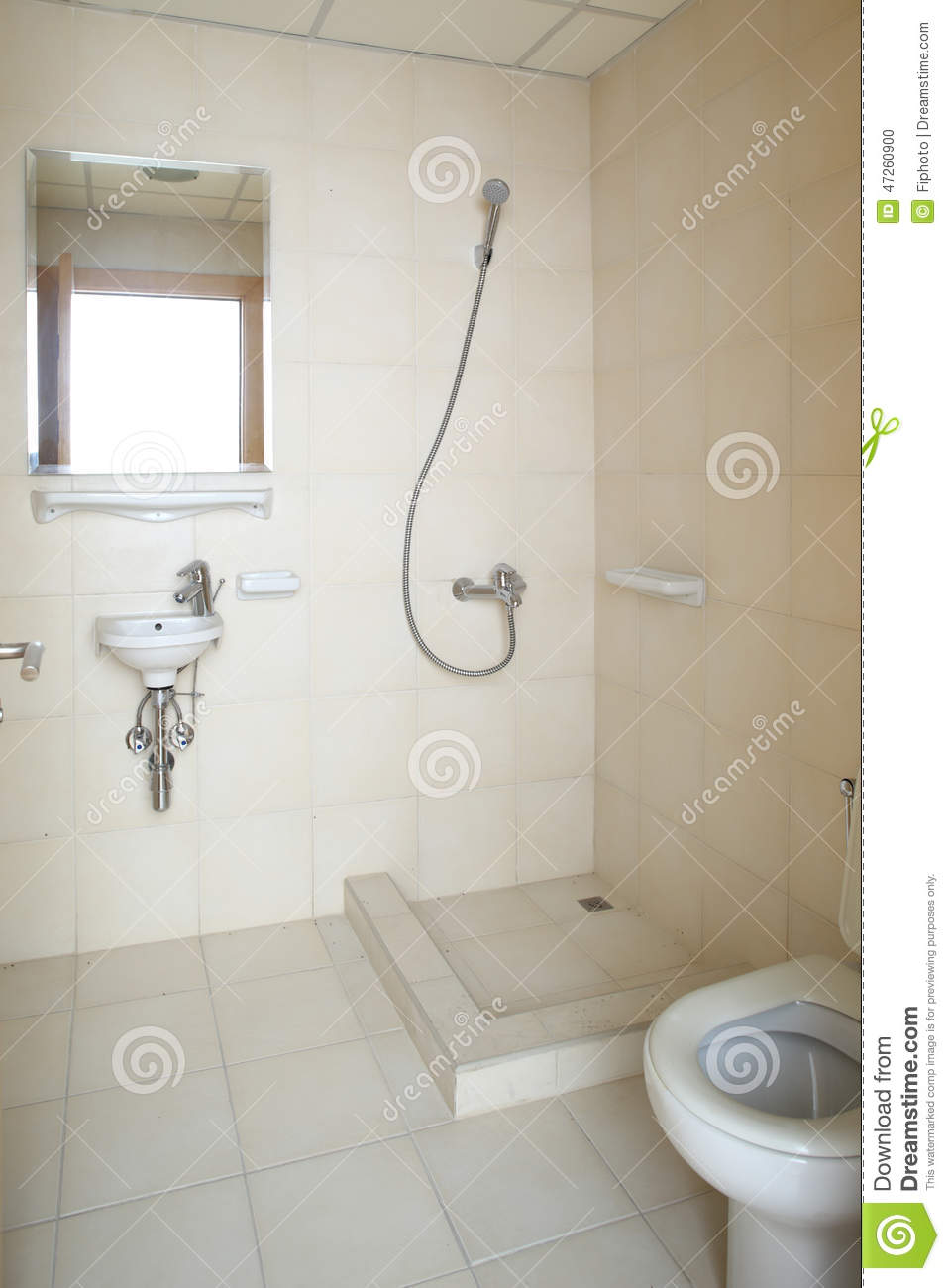 Interior Of Modern European Shower Stock Photo - Image of room ...