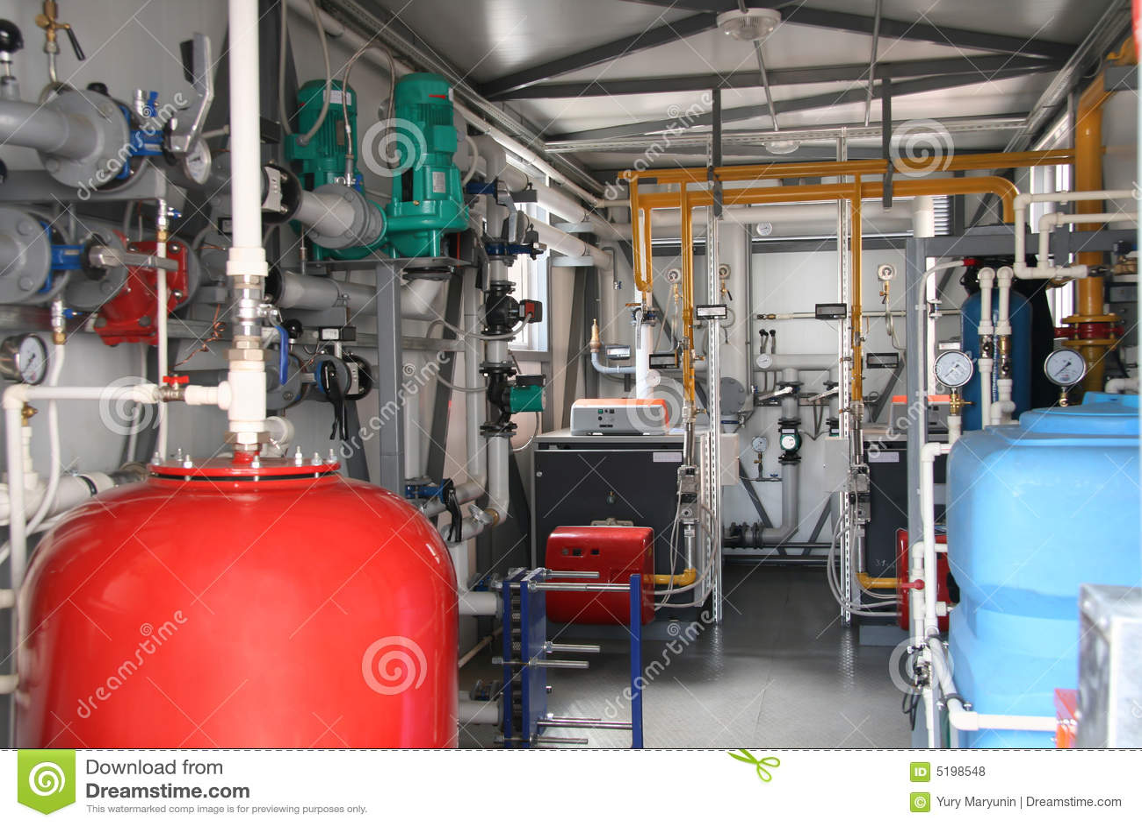 Interior Of Modern Gas Boiler-house Stock Photo - Image of modern ...