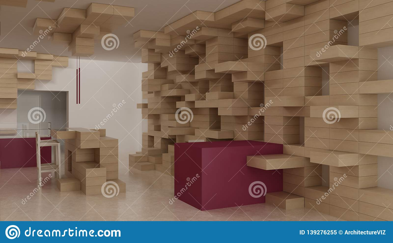 Interior Of Modern Generic Store Design Template Commercial Space