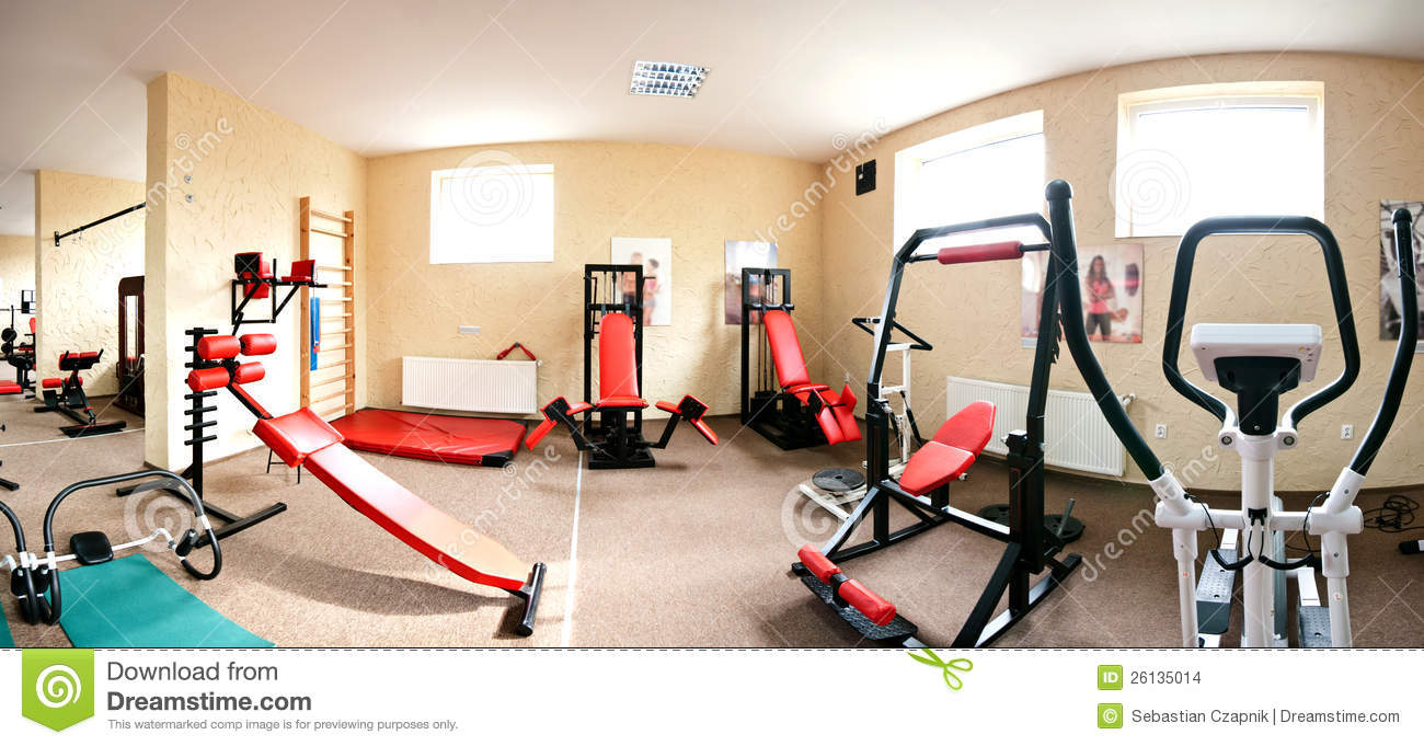 interior of modern gym stock images image 26135014