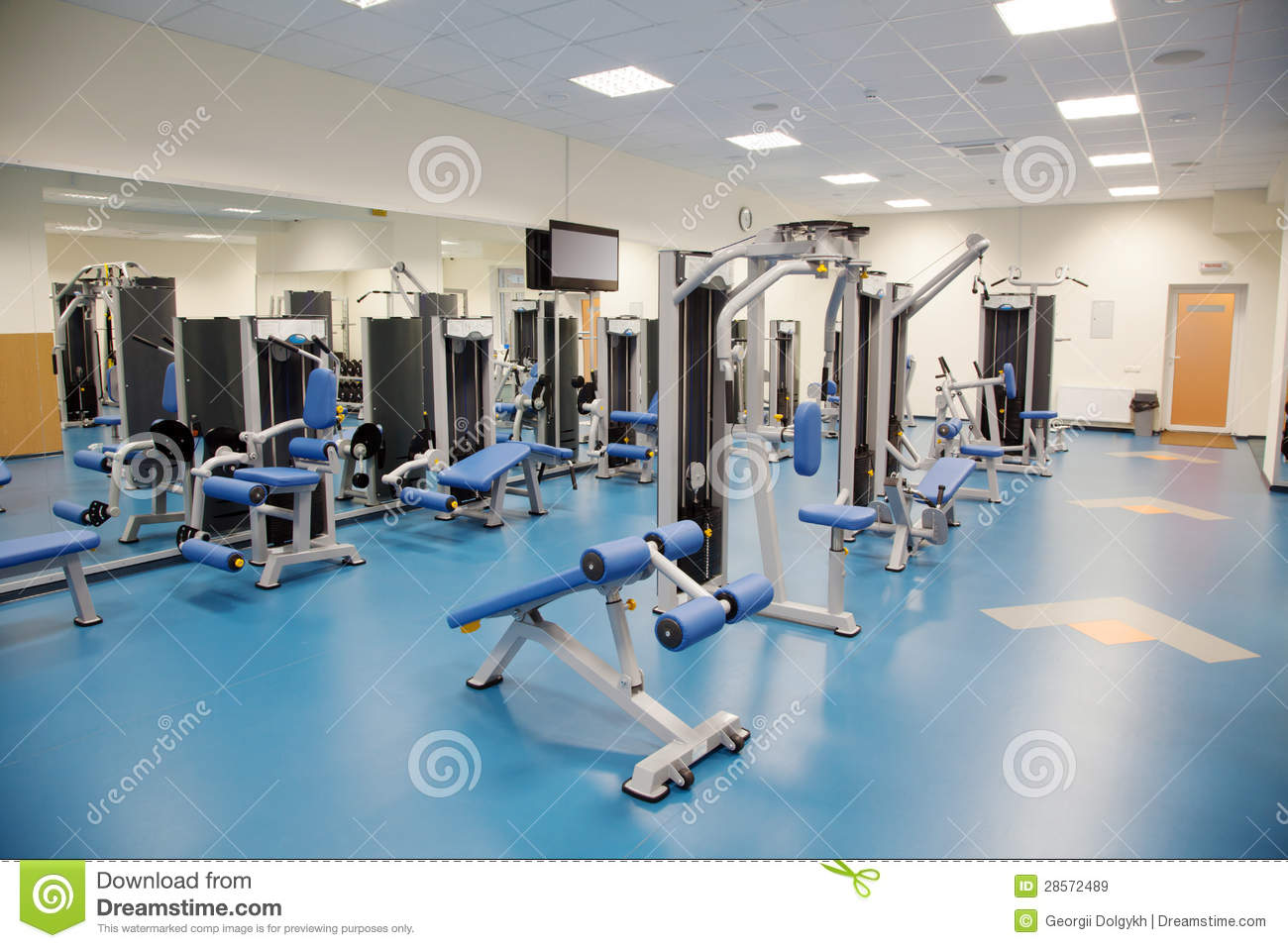 Interior of a modern gym stock image