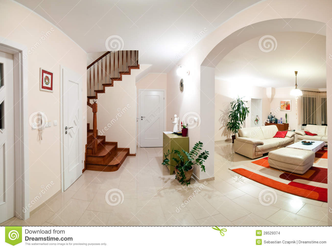 Interior of modern home stock photo. Image of house, carpet ...