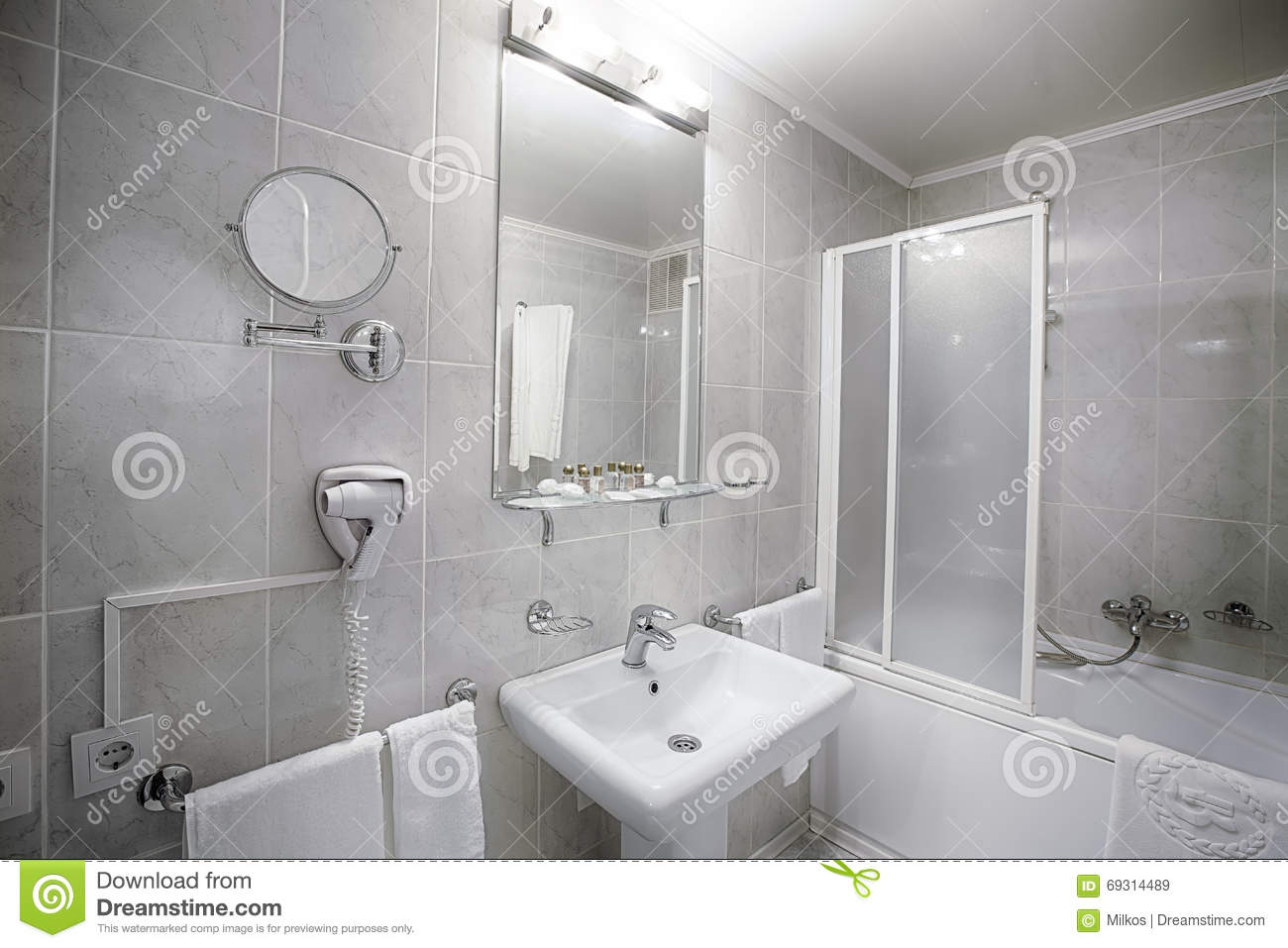 Royalty-Free Stock Photo. Download Interior Of A Modern Hotel Bathroom.