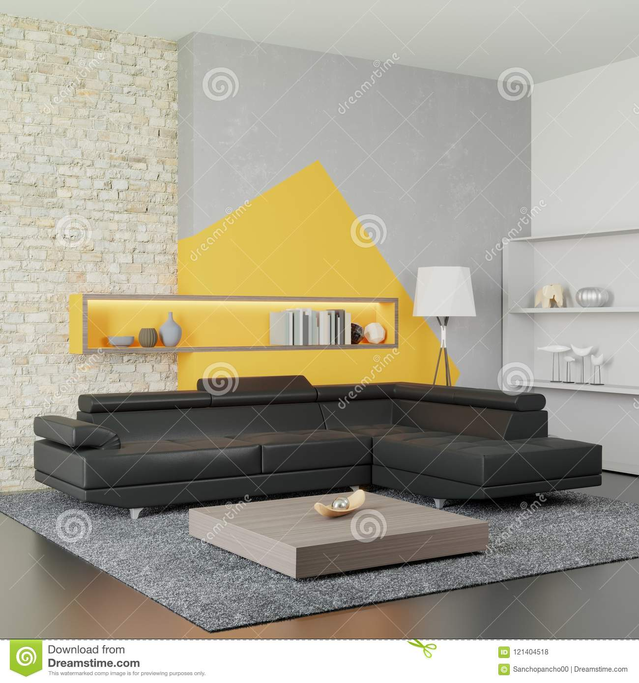 The Interior Of The Modern Living Room. In Light Tones ...