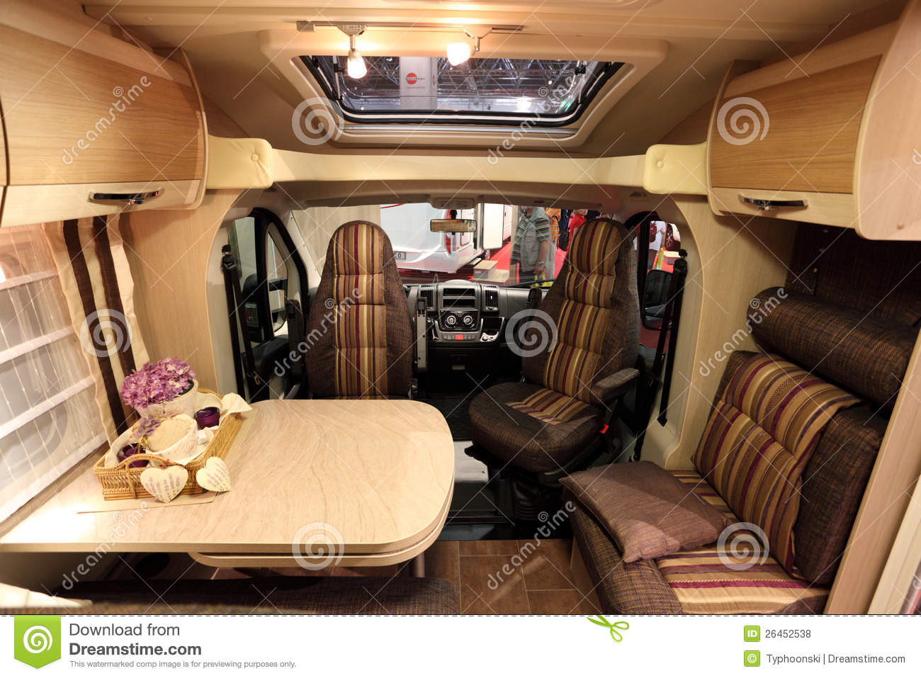 Interior Of A Modern Motorhome Editorial Stock Photo