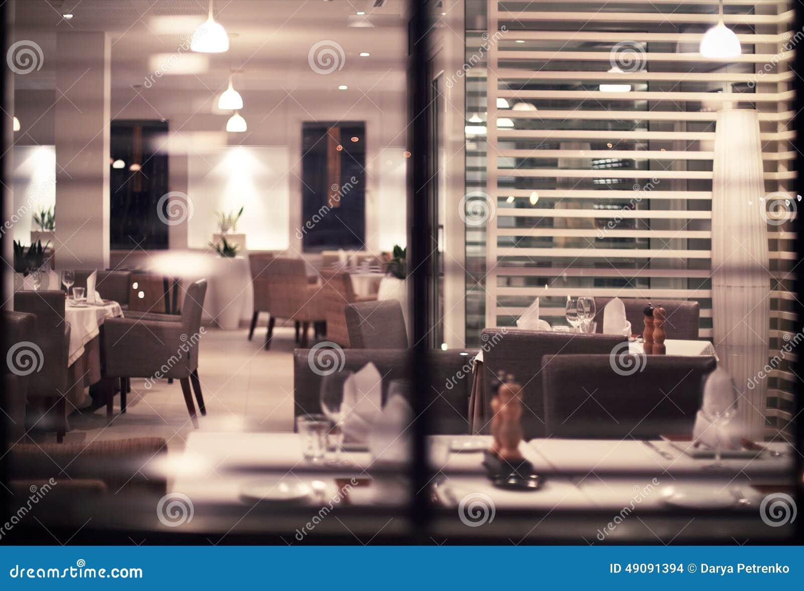 Interior of modern nigt club or restaurant