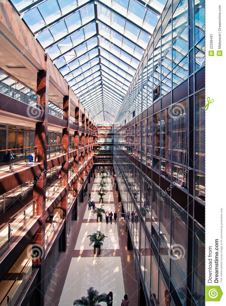 Interior of modern office building stock image image for Modern office building interior