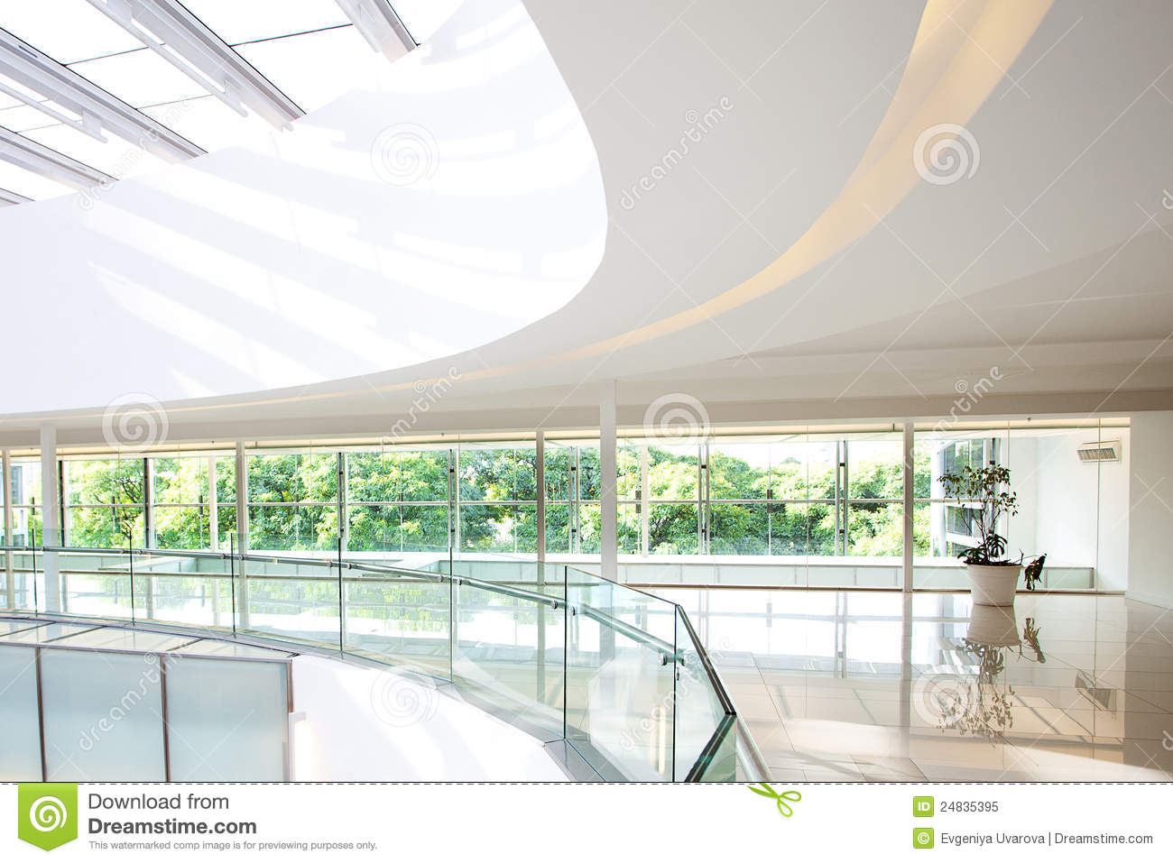 Interior of a modern office building royalty free stock for Modern office building interior